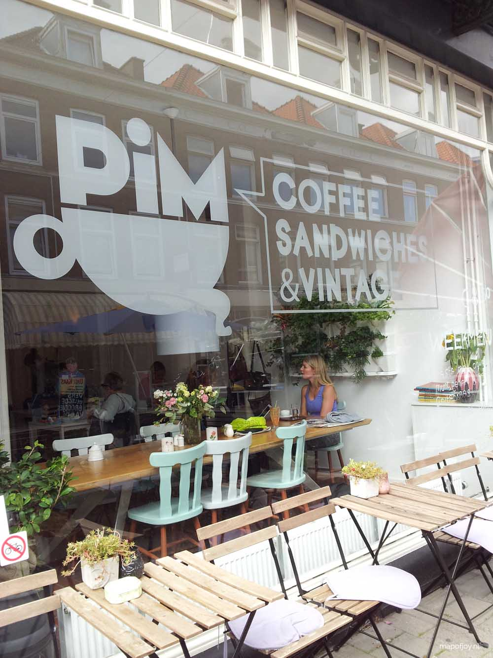 PIM, Den Haag, koffietent - Map of Joy