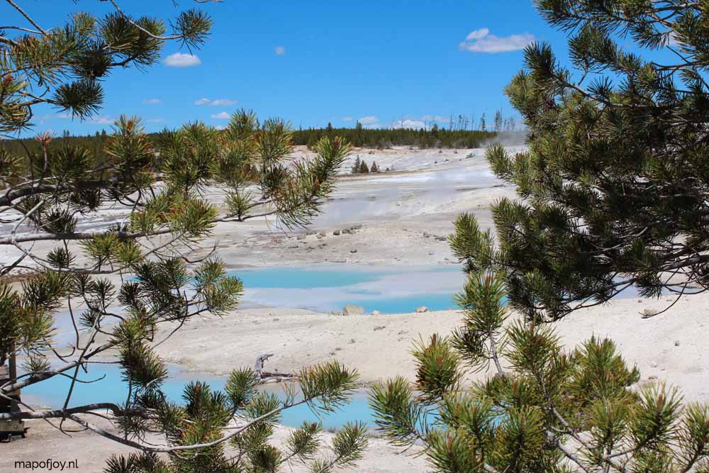 Norris Geyser Basin, Yellowstone NP - Map of Joy