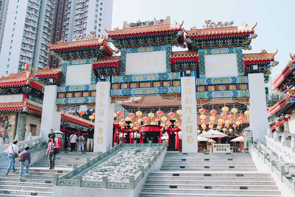 5x waarom Hongkong de ideale stopover is,Wong Tai Sin Temple - Map of Joy