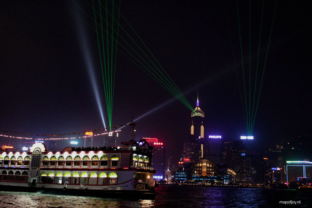 Victoria Harbour Hong Kong, Symphony of Lights - Map of Joy