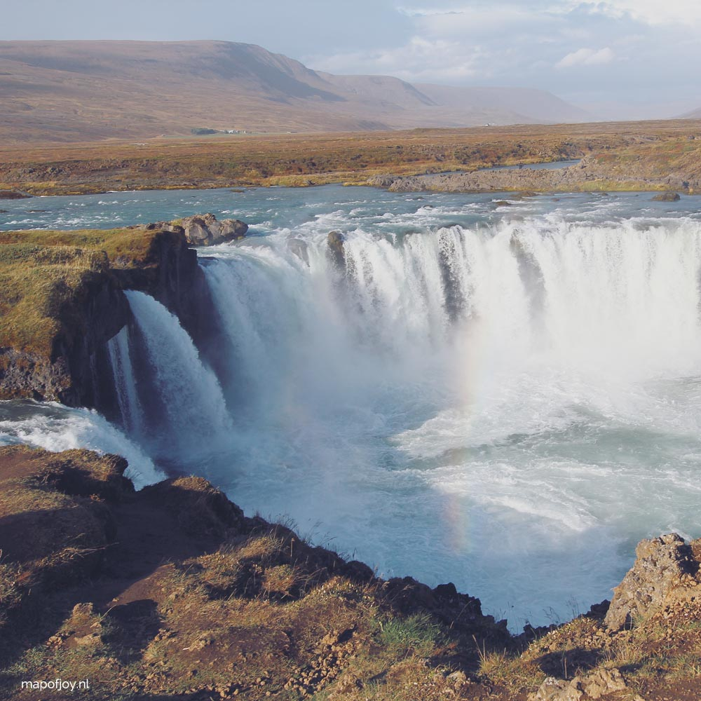 Godafoss waterfall, Iceland - Map of Joy