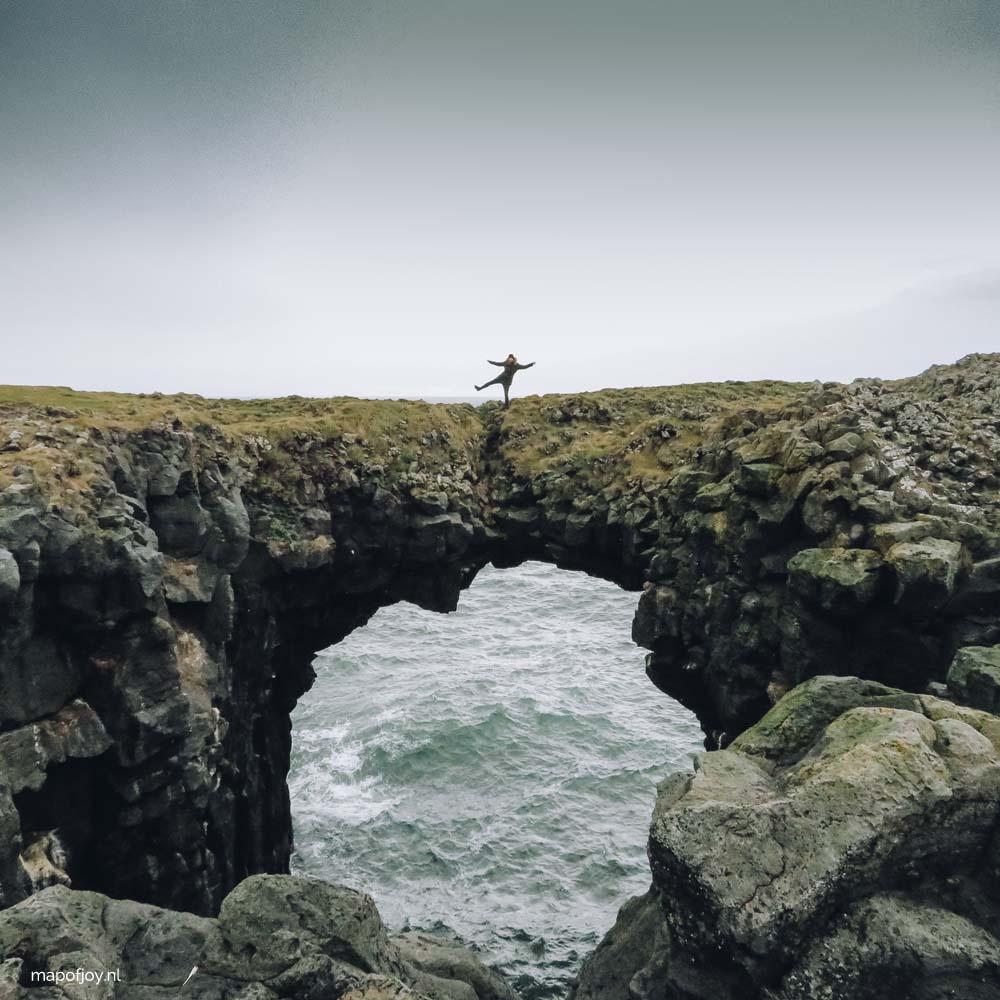Snaefellsnes, arch rock Arnastapi, Iceland - Map of Joy