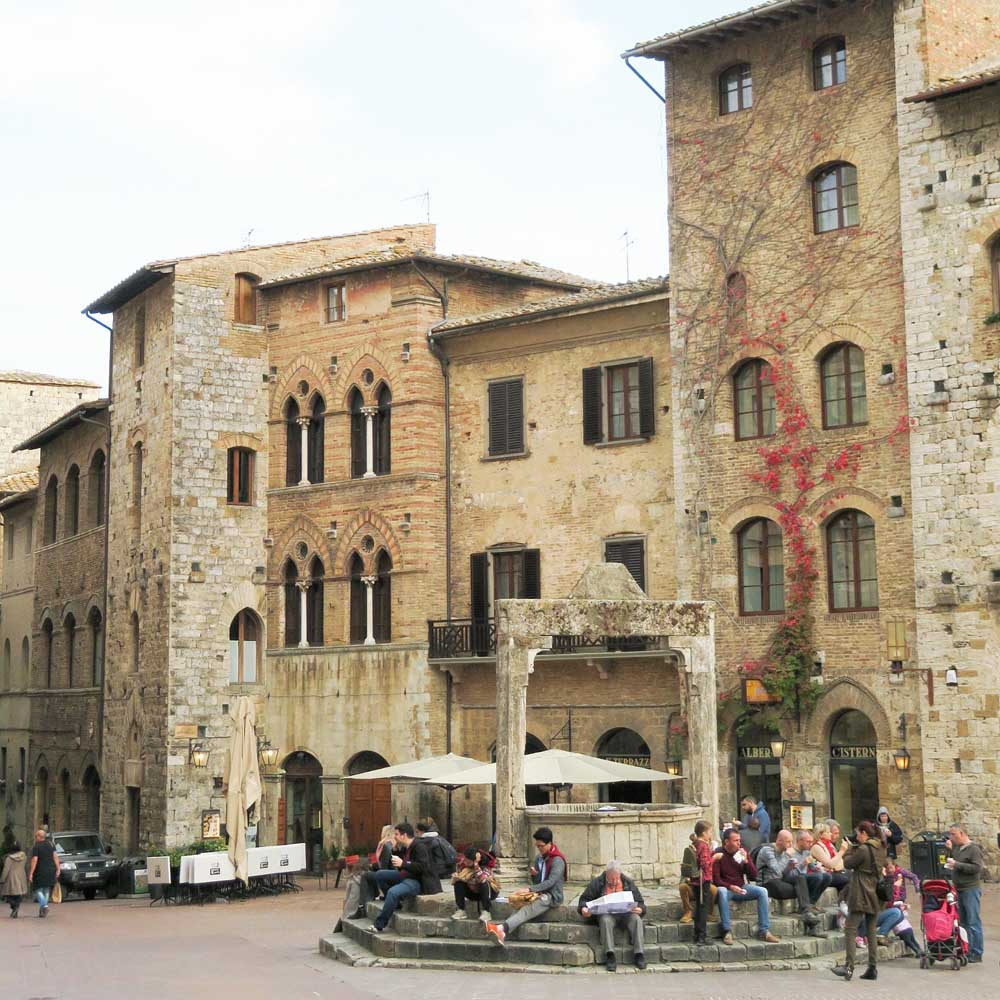 San Gimignano, Toscane - Map of Joy