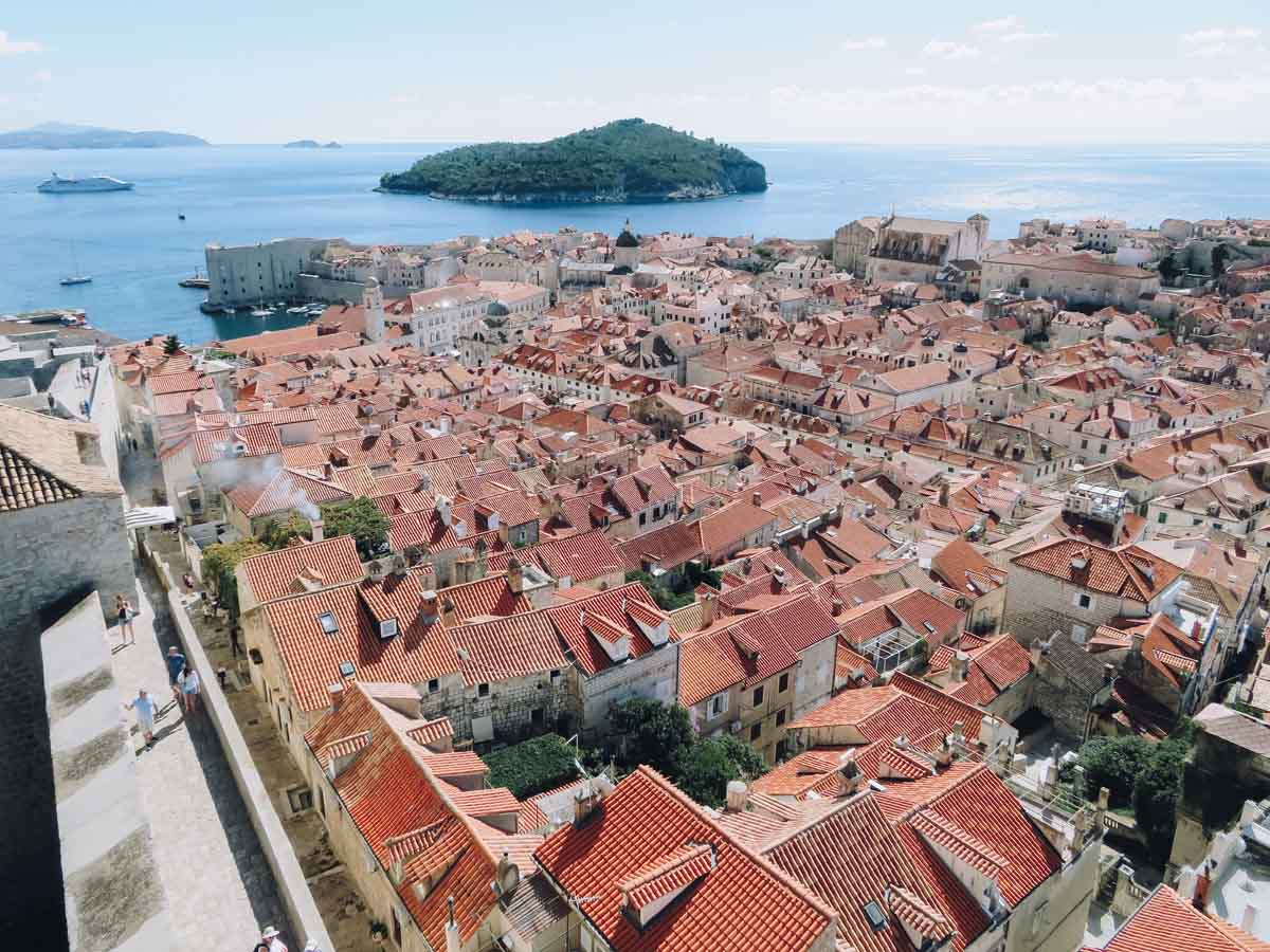 Dubrovnik, wandelen over de stadsmuren - Map of Joy