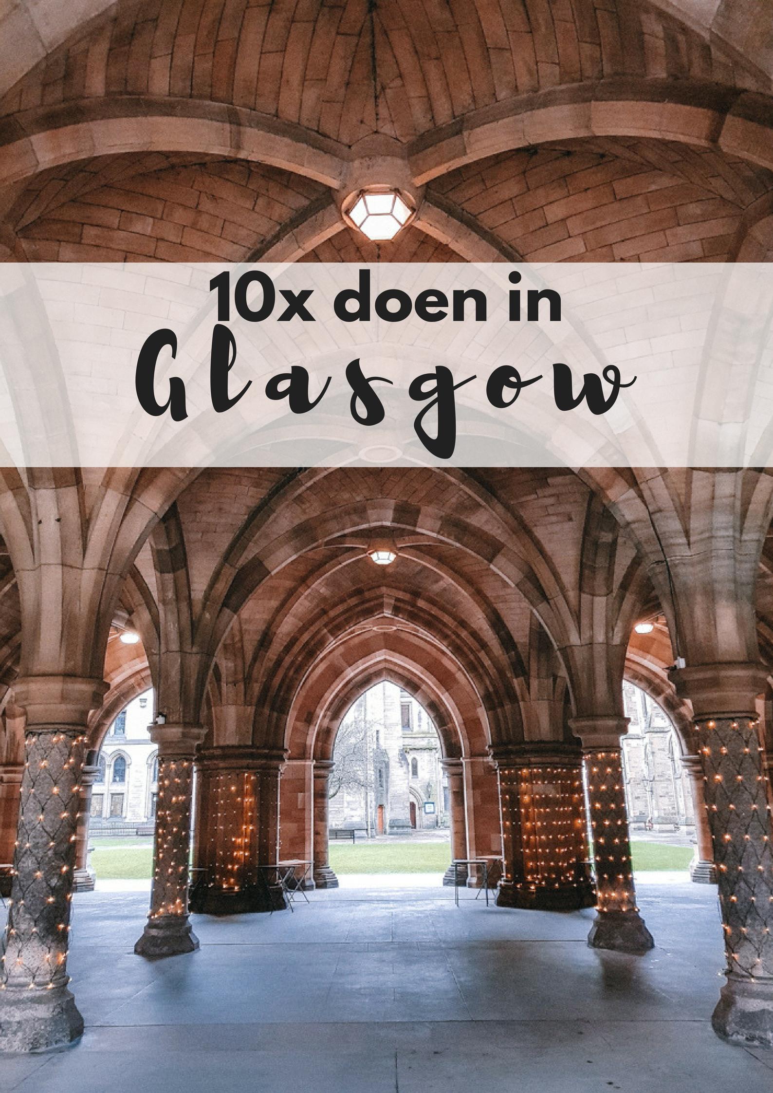 10x dingen om te doen en te zien in Glasgow - Map of Joy