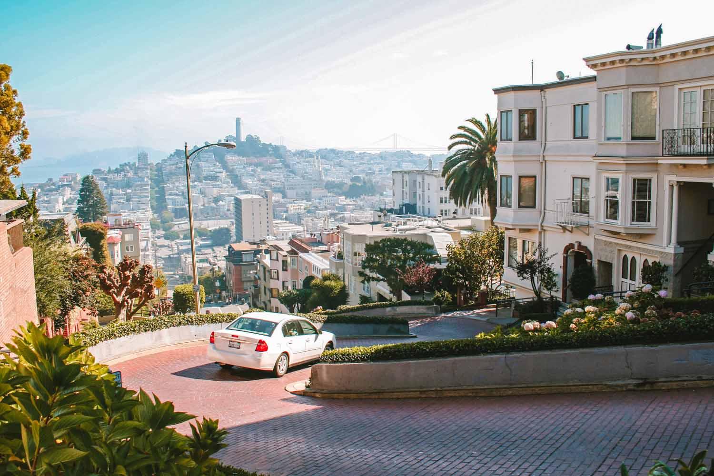 Lombard Street, zien in San Francisco - Map of Joy