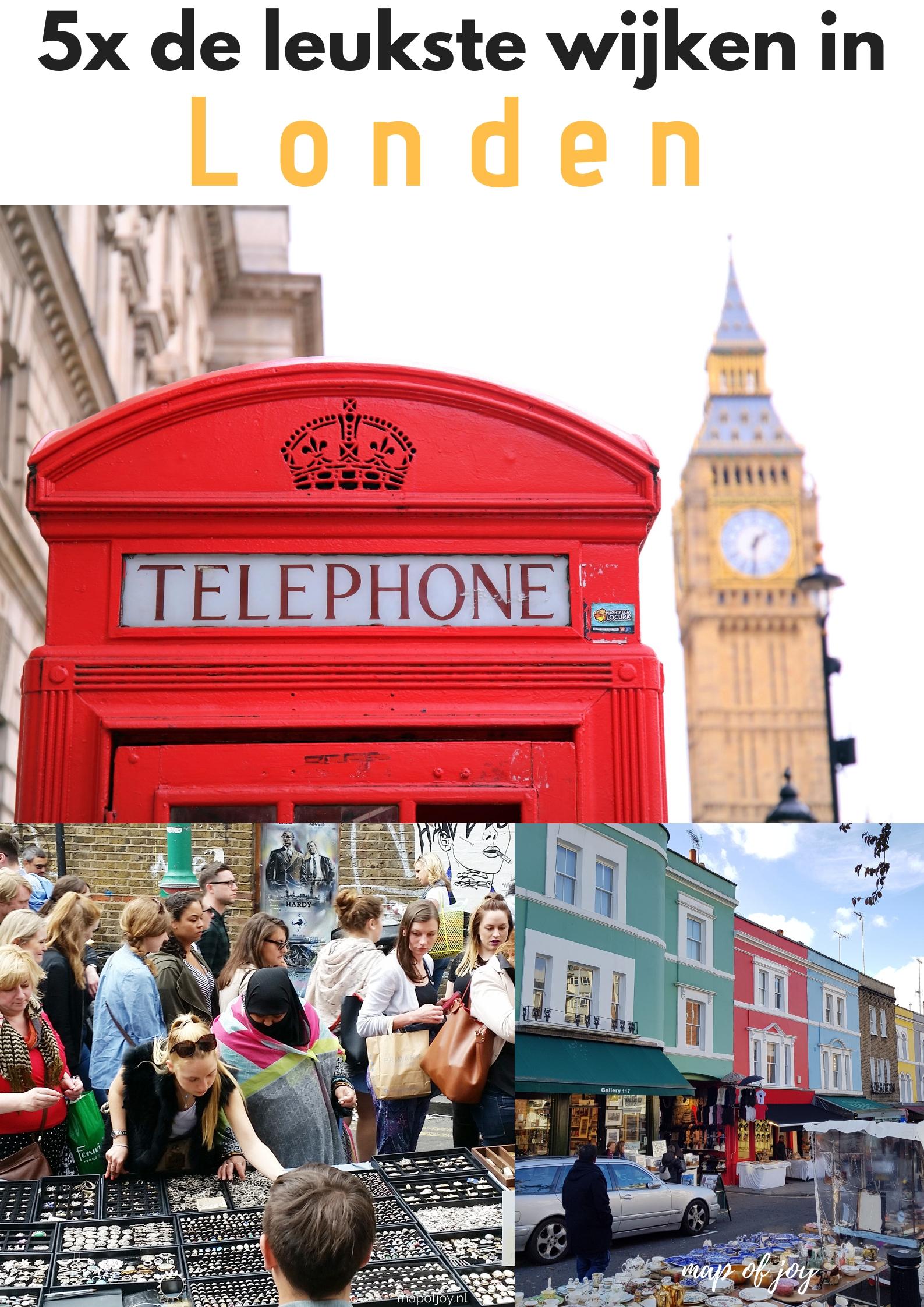 5x de leukste wijken in Londen - Map of Joy