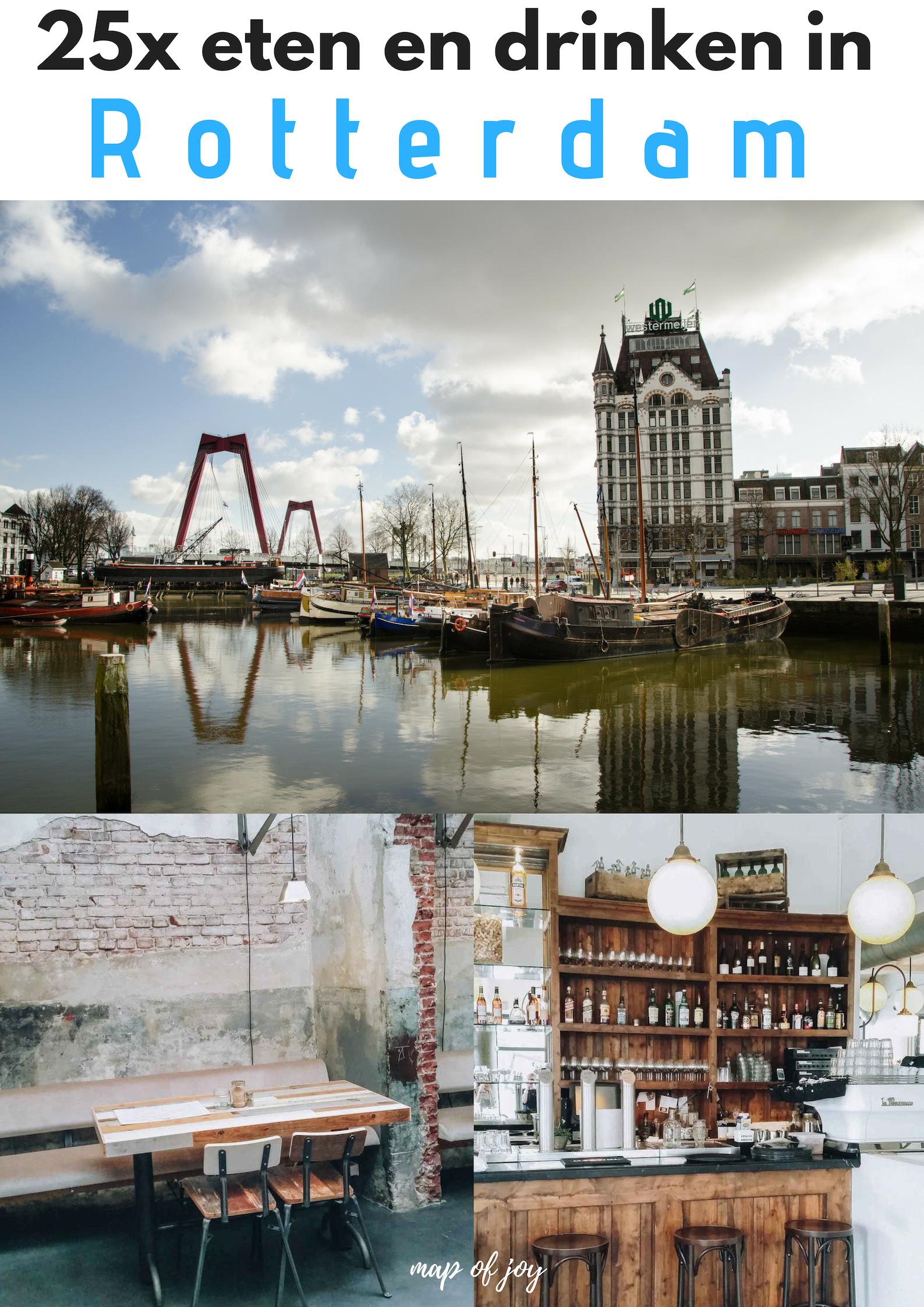 25x eten en drinken in Rotterdam - Map of Joy