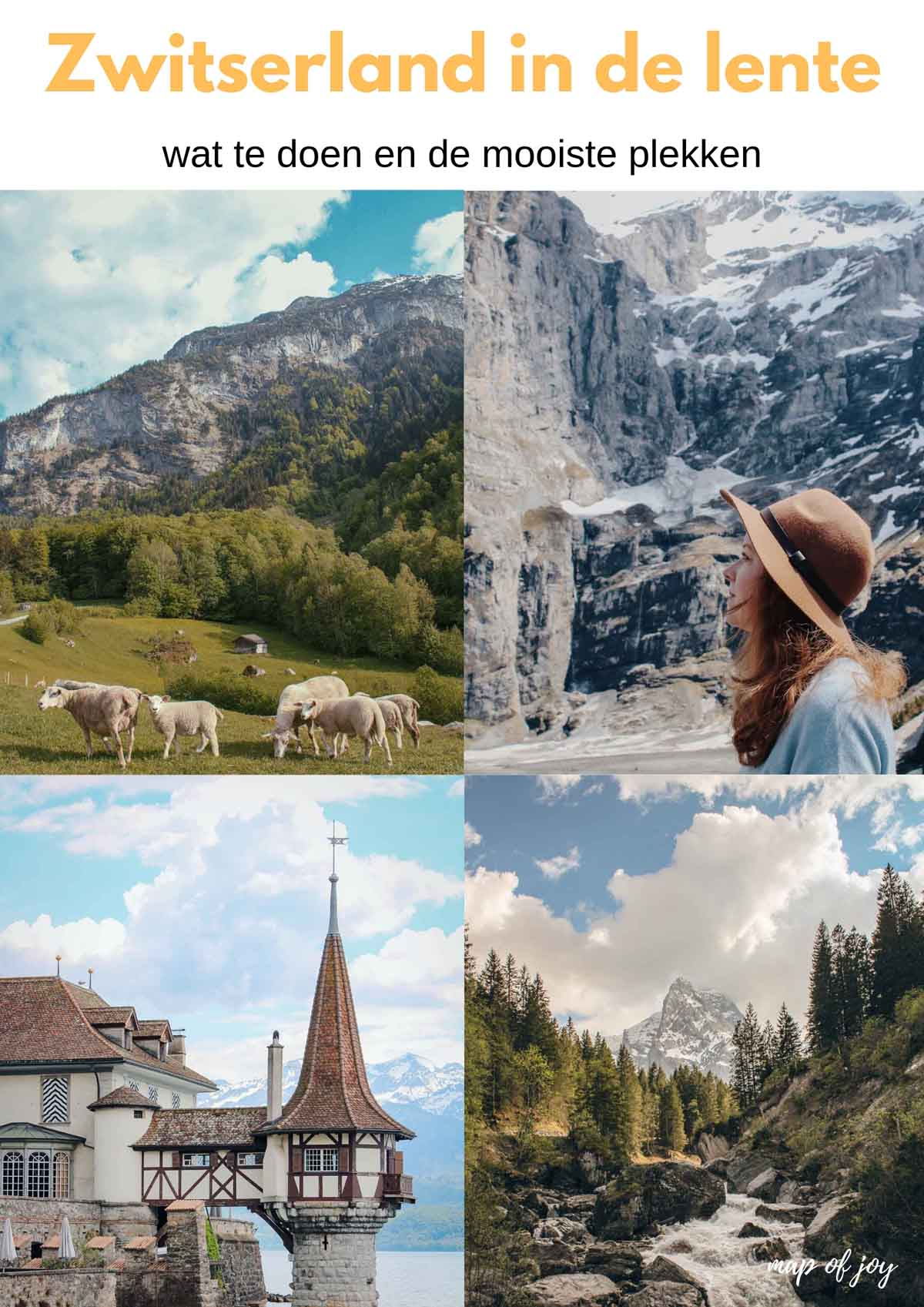 Vakantie in de lente in Zwitserland [een reisverslag] - Map of Joy