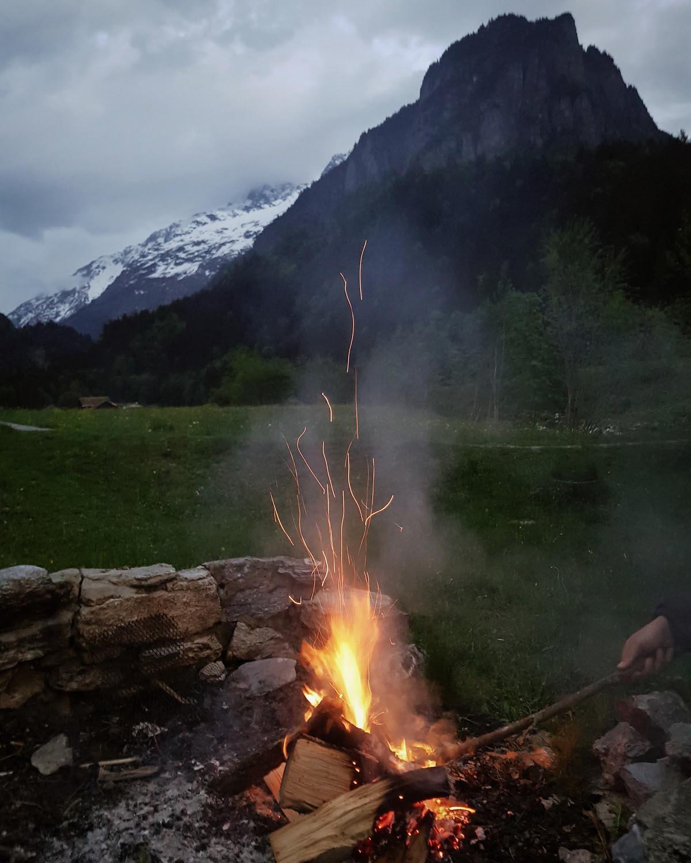 Kampvuur, natuur, Zwitserland - Map of Joy