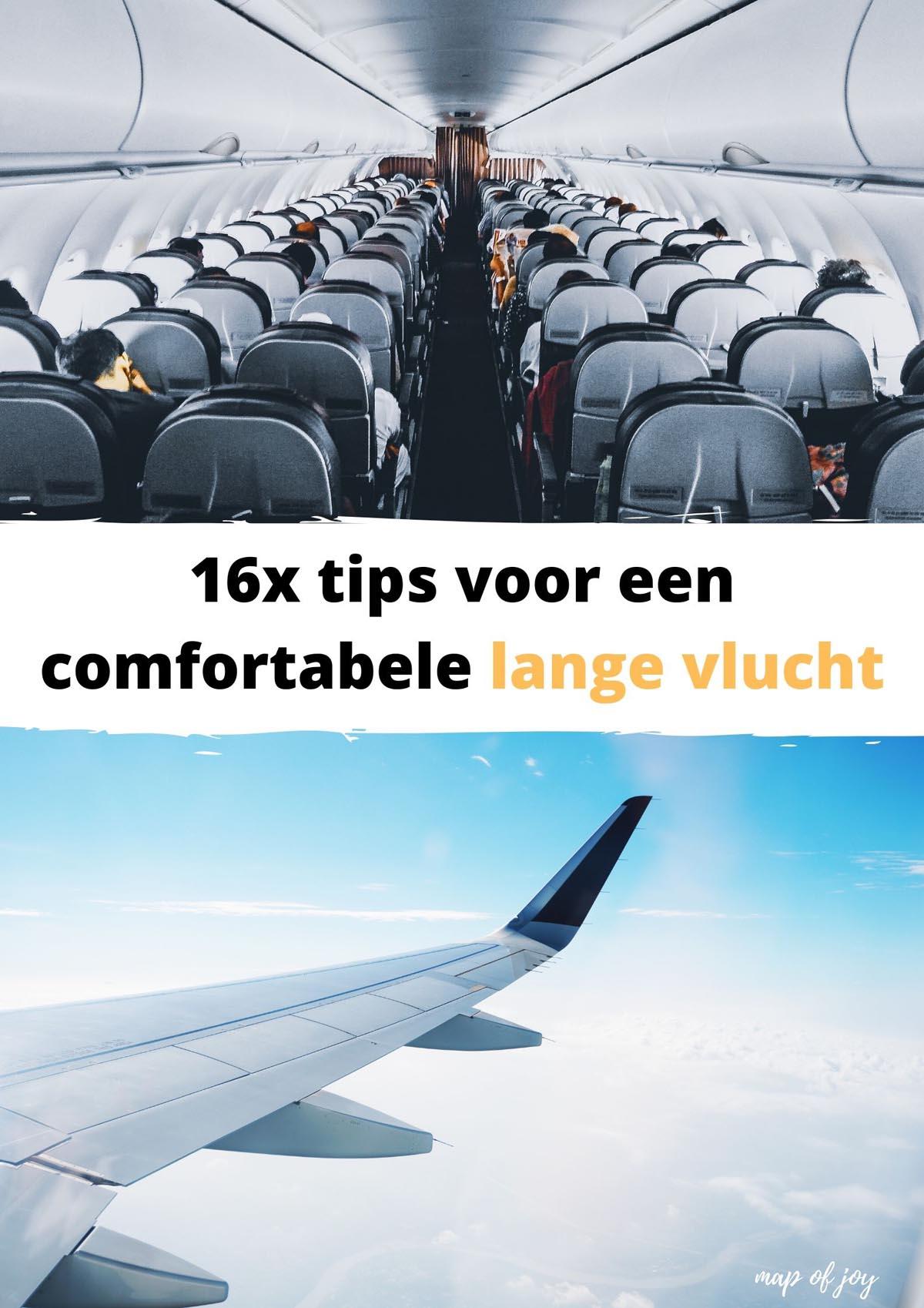 16x tips voor een comfortabele lange vlucht