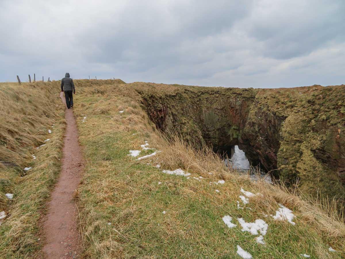 Bullers of Buchan, Aberdeenshire, Schotland - Map of Joy
