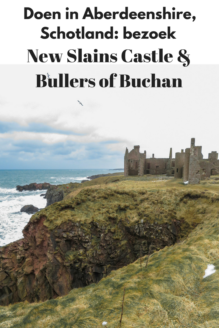 Doen in Aberdeenshire, Schotland: bezoek New Slains Castle en Bullers of Buchan - Map of Joy