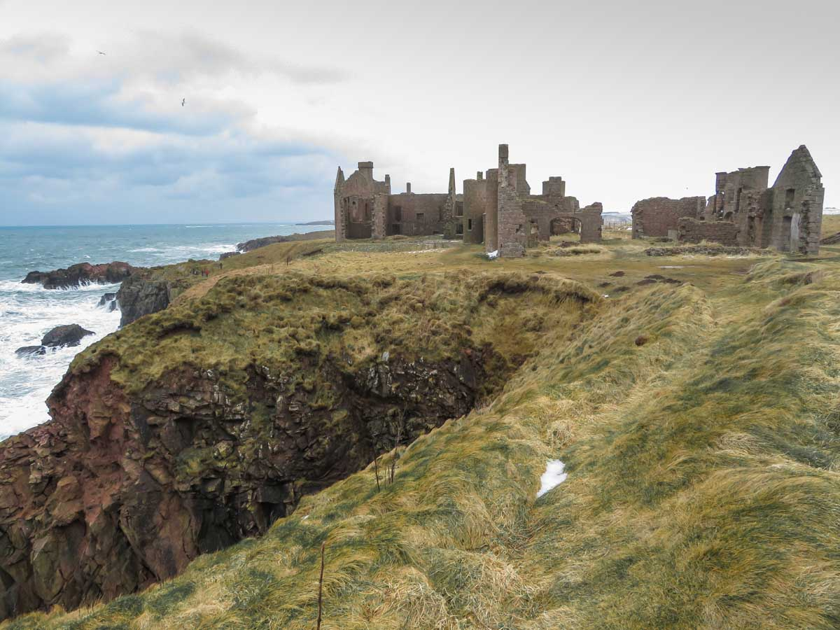 New Slains Castle, Aberdeenshire, Schotland - Map of Joy