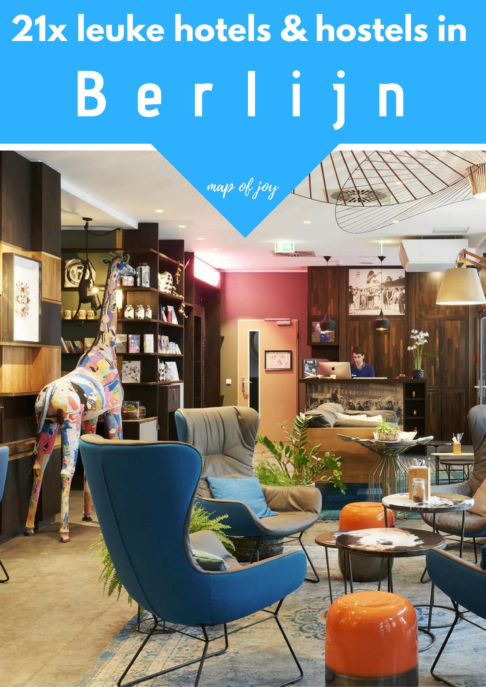 21x leuke hotels en hostels in Berlijn - Map of Joy