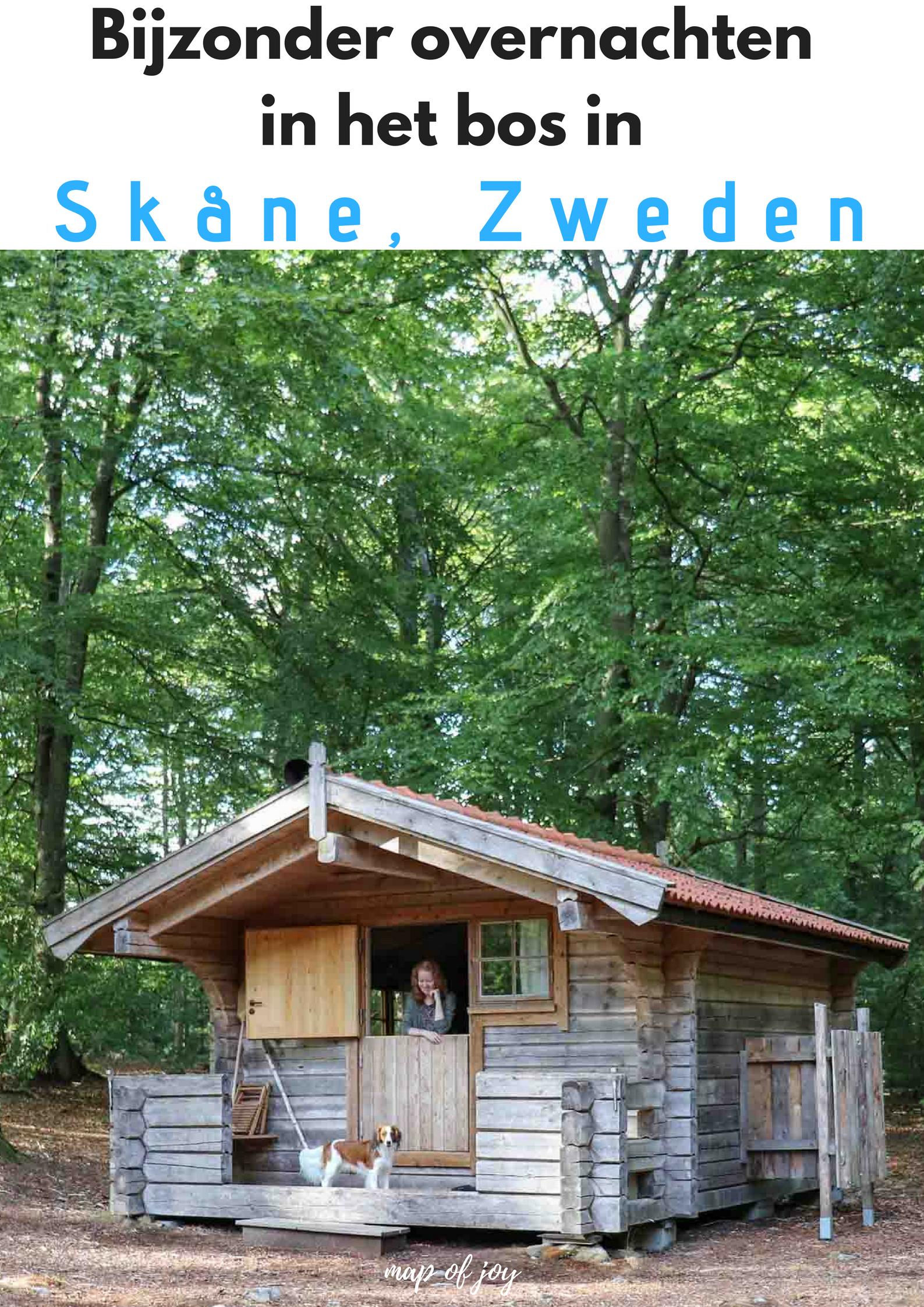 Bijzonder overnachten in het bos in Skåne, Zweden - Map of Joy