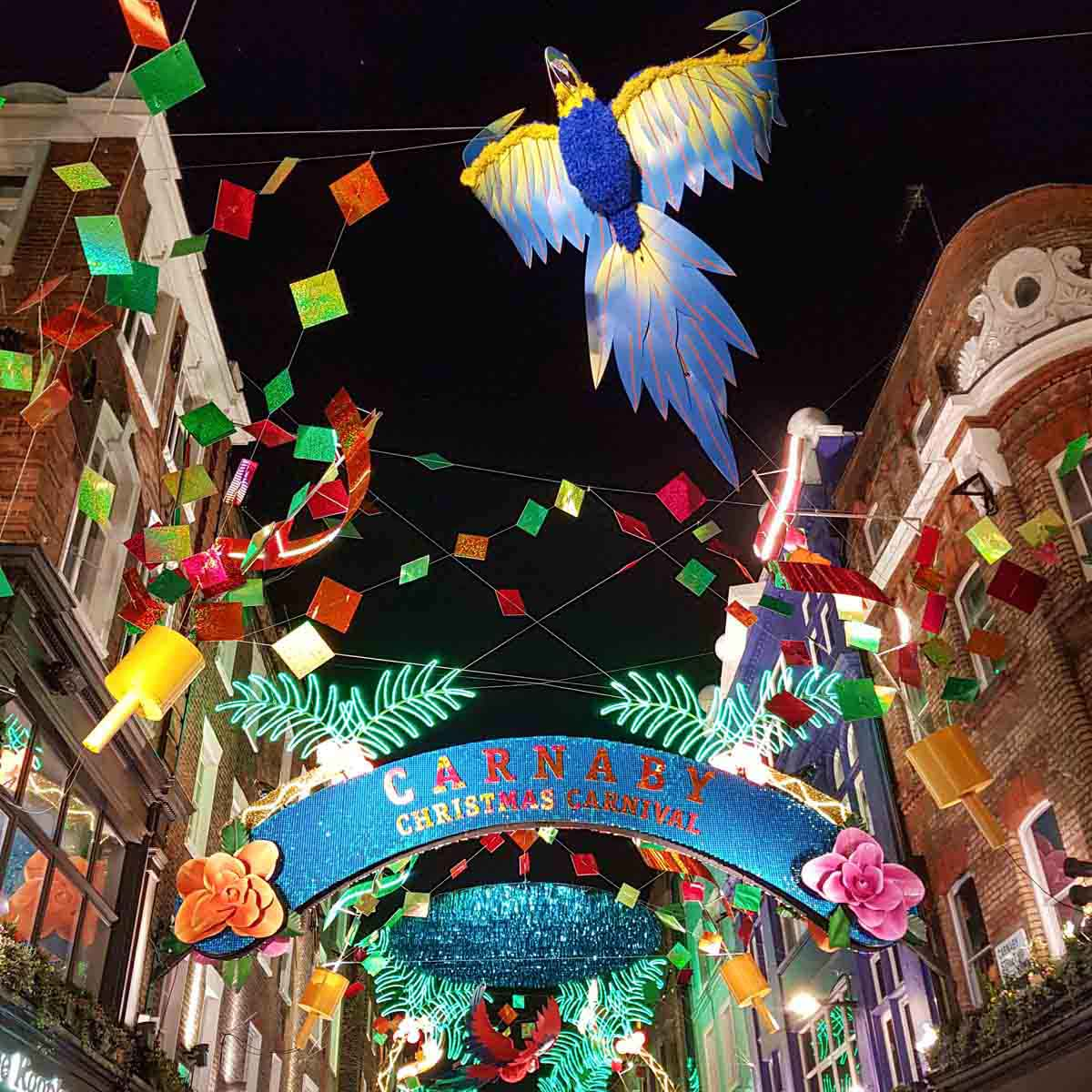 Carnaby Street, kerst in Londen - Map of Joy