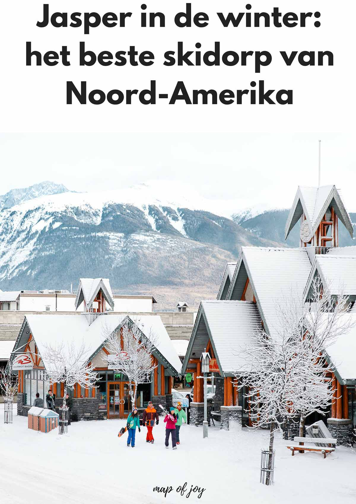Jasper in de winter: het beste skidorp van Noord-Amerika - Map of Joy