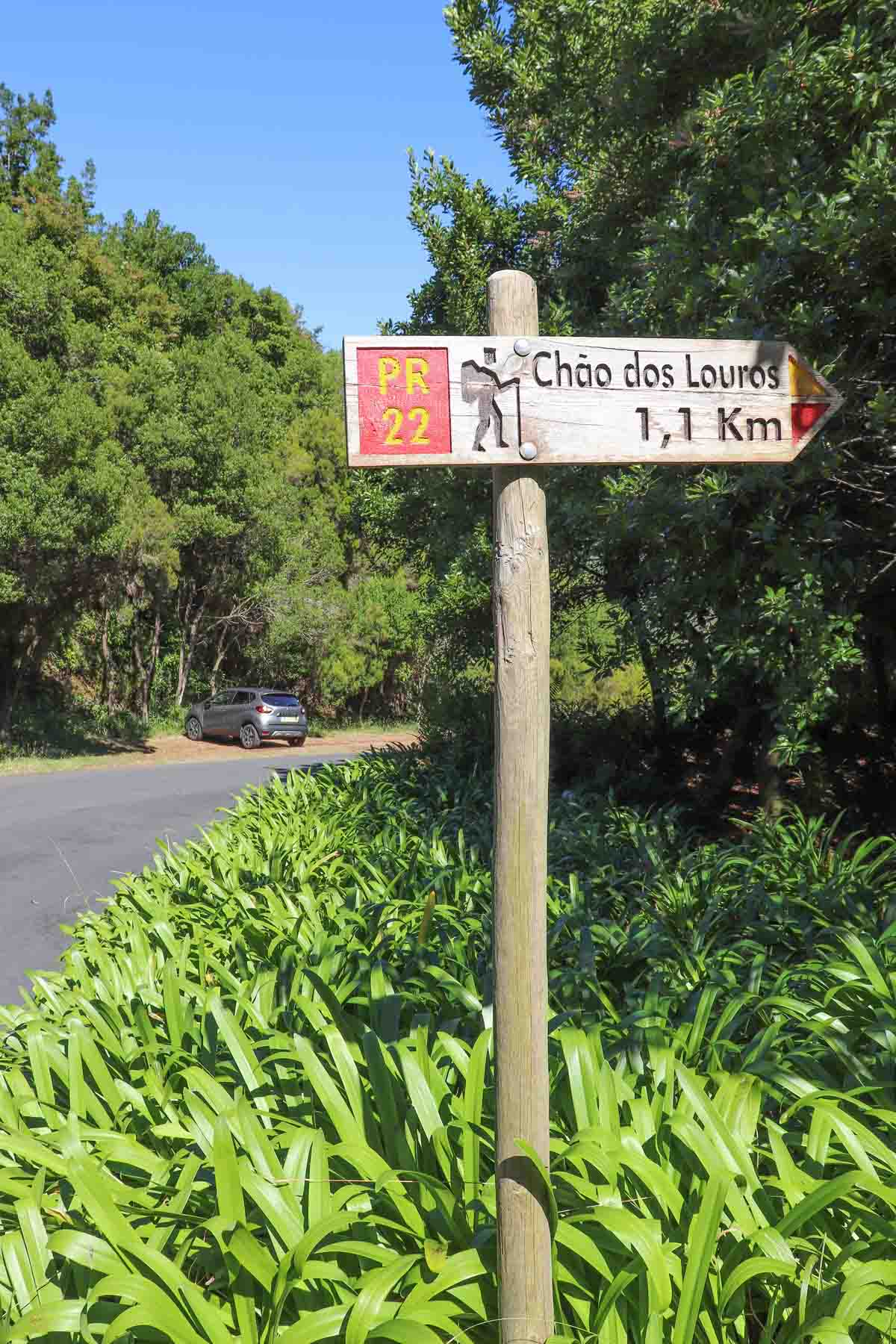 makkelijke wandeling Madeira, Vereda Do Chao Dos Louros - Map of Joy