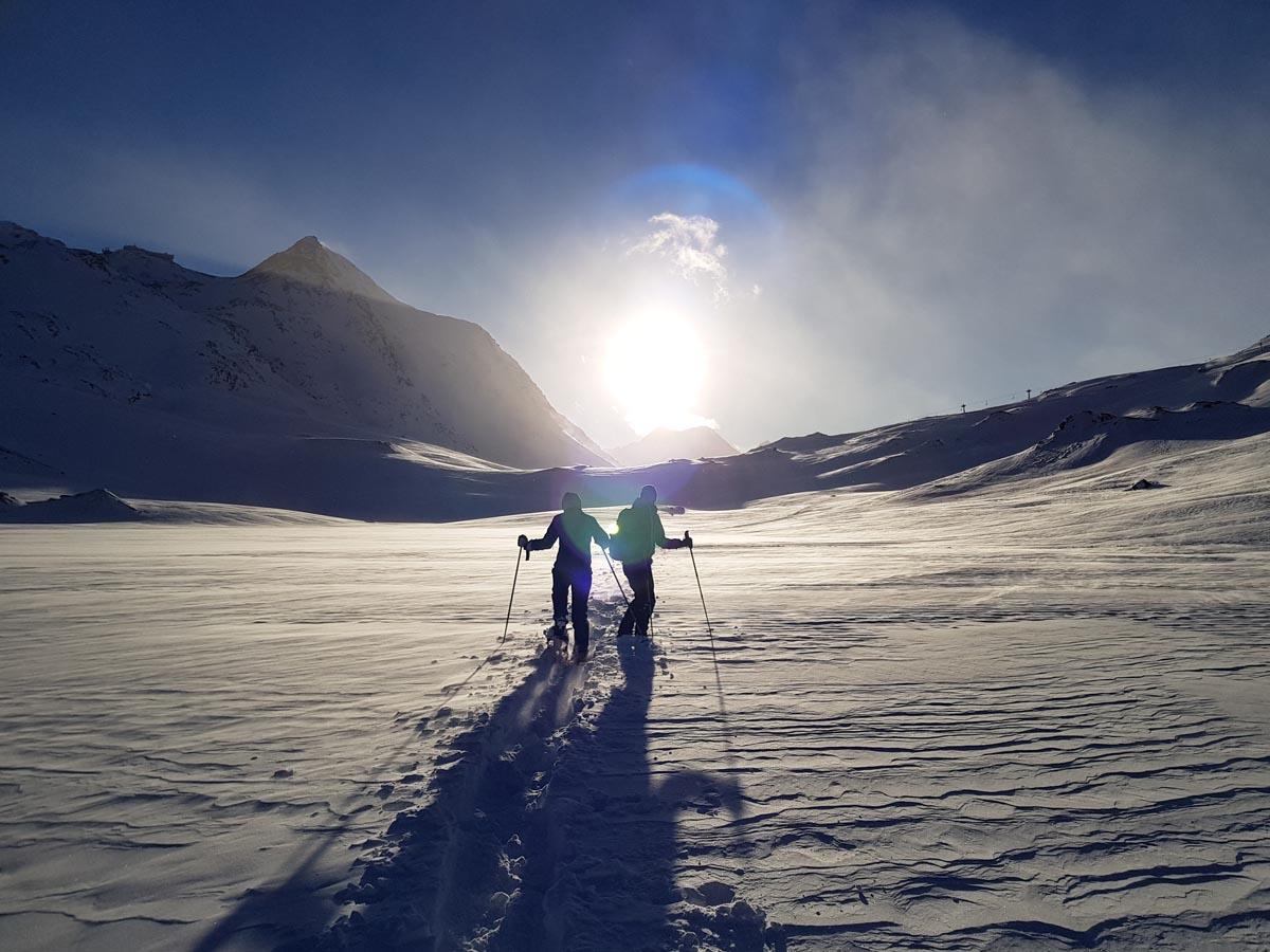 Sneeuwschoenwandelen in Zuid-Tirol: bewonder de prachtige Schnalstaler gletjser