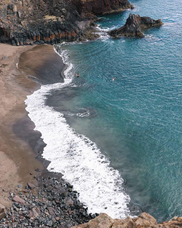 Natuurlijk strand Prainha, Madeira - Map of Joy