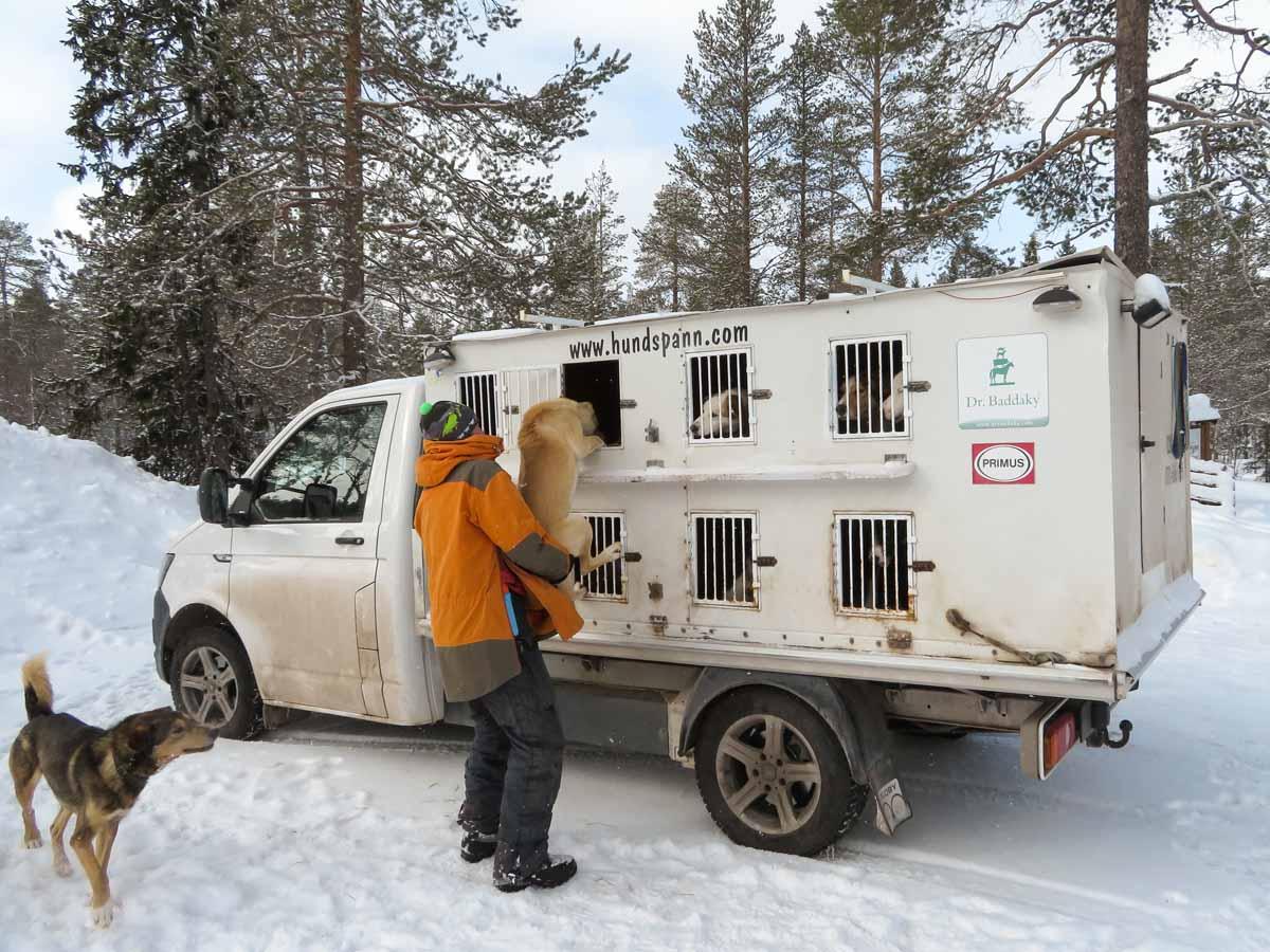 hondensledetocht in Värmland - Map of Joy