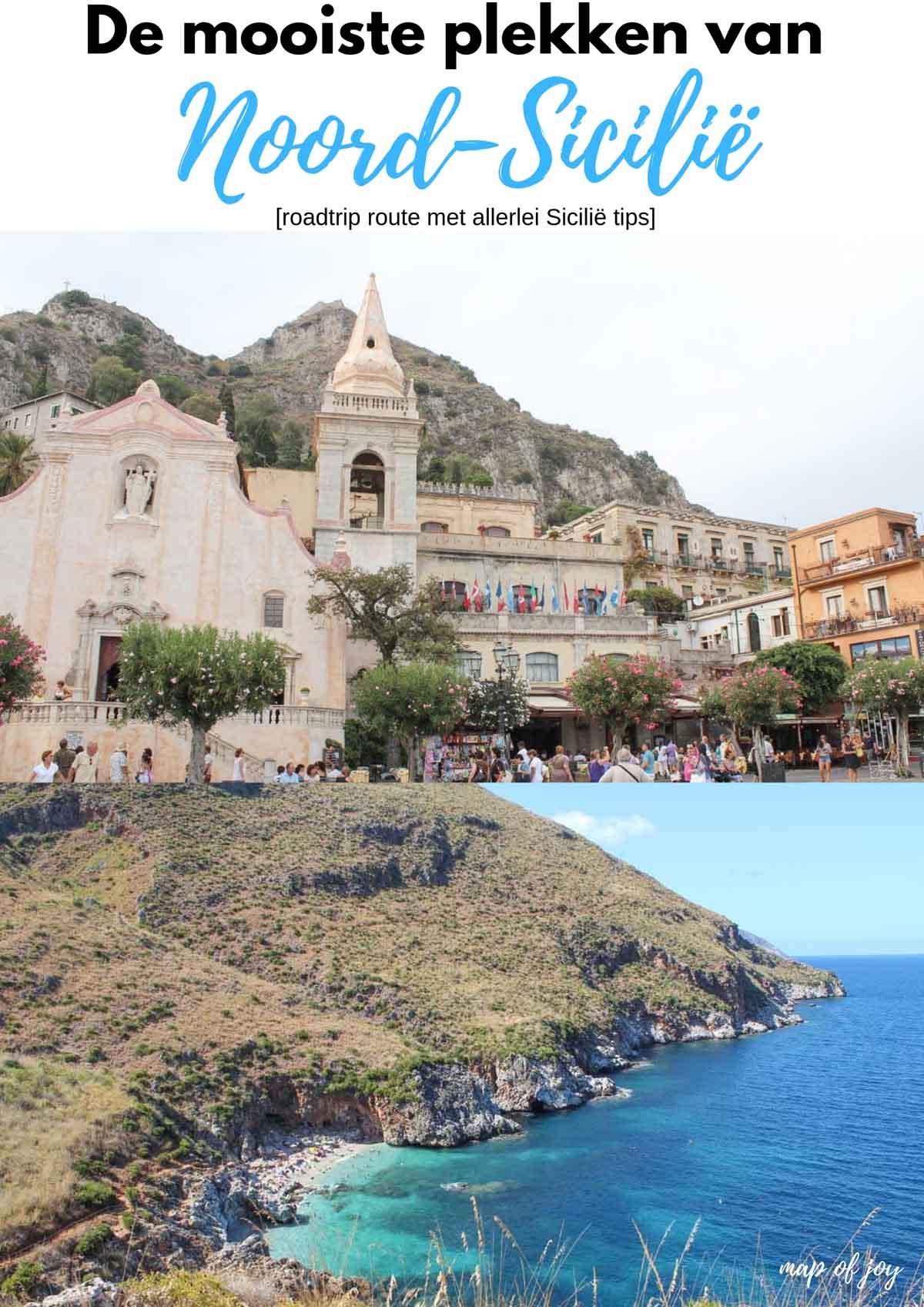 De mooiste plekken van Noord-Sicilië [roadtrip route] - Map of Joy