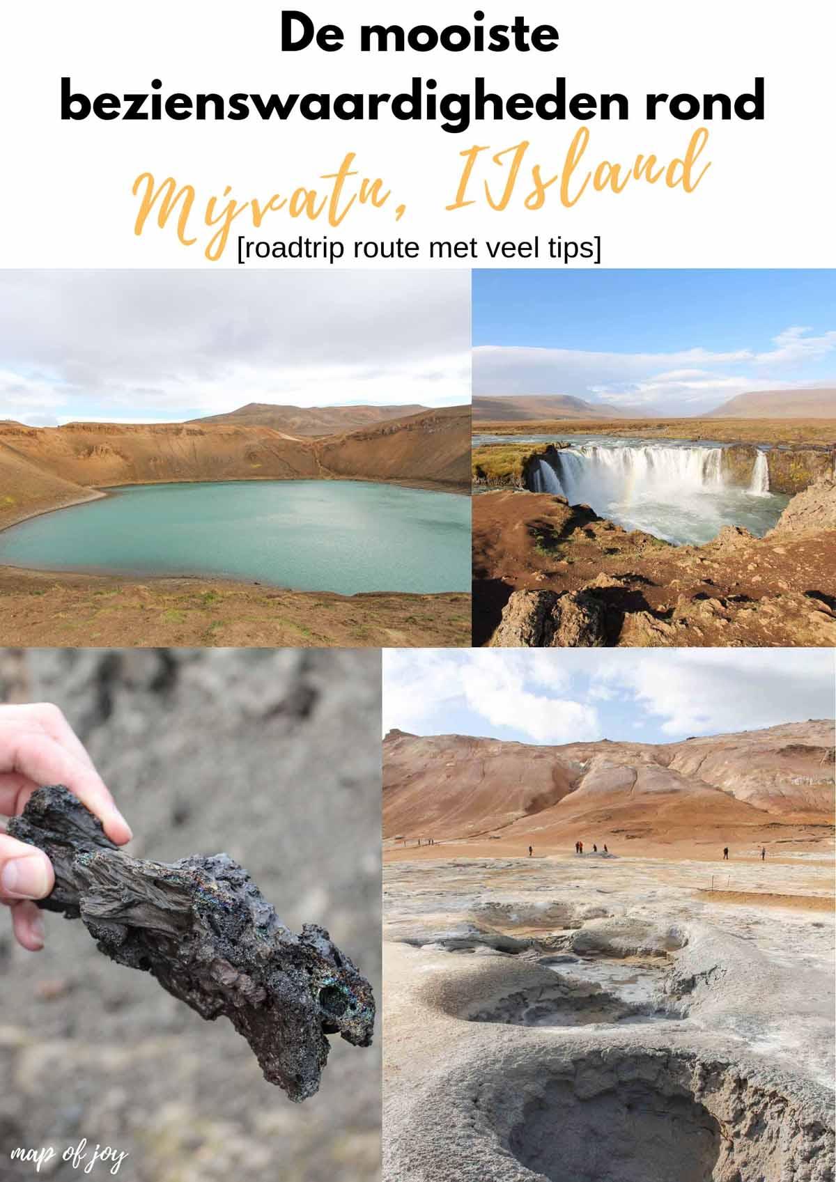 De mooiste bezienswaardigheden rond Mývatn [roadtrip route] - Map of Joy