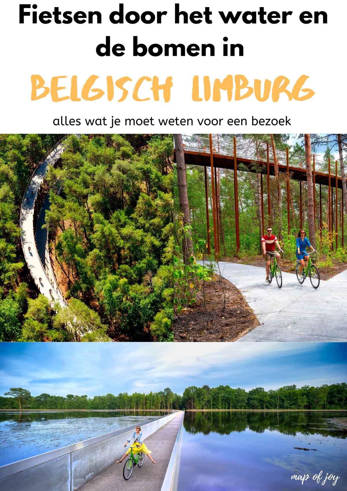Fietsen door de bomen en het water in Belgisch Limburg