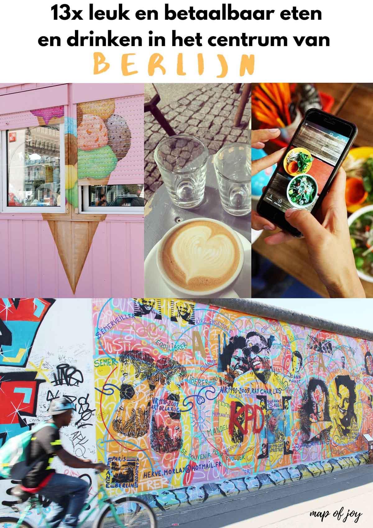 13x leuk en betaalbaar eten en drinken in het centrum van Berlijn (wijk Mitte) - Map of Joy