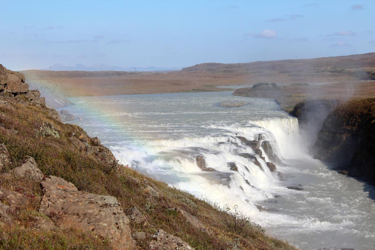 Gullfoss IJsland - Map of Joy