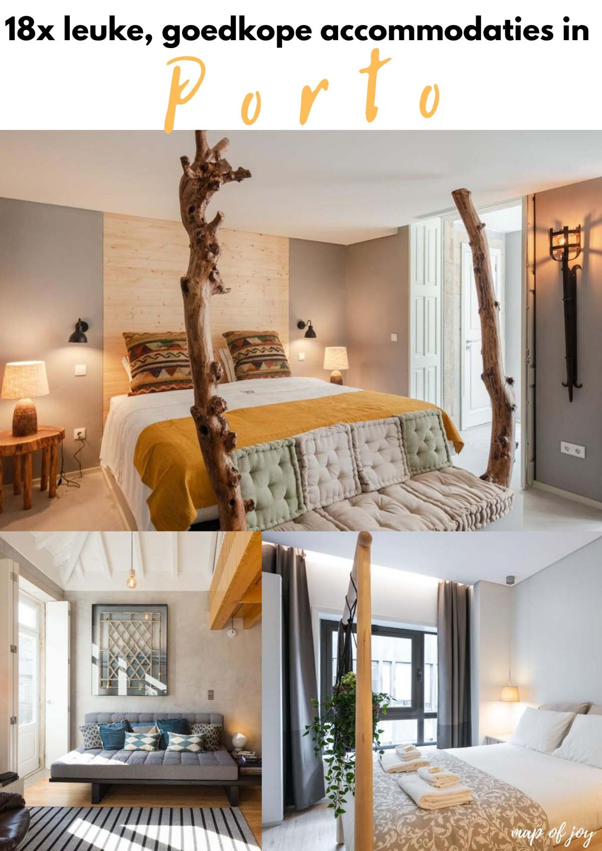 18x leuke, goedkope accommodaties in Porto - Map of Joy