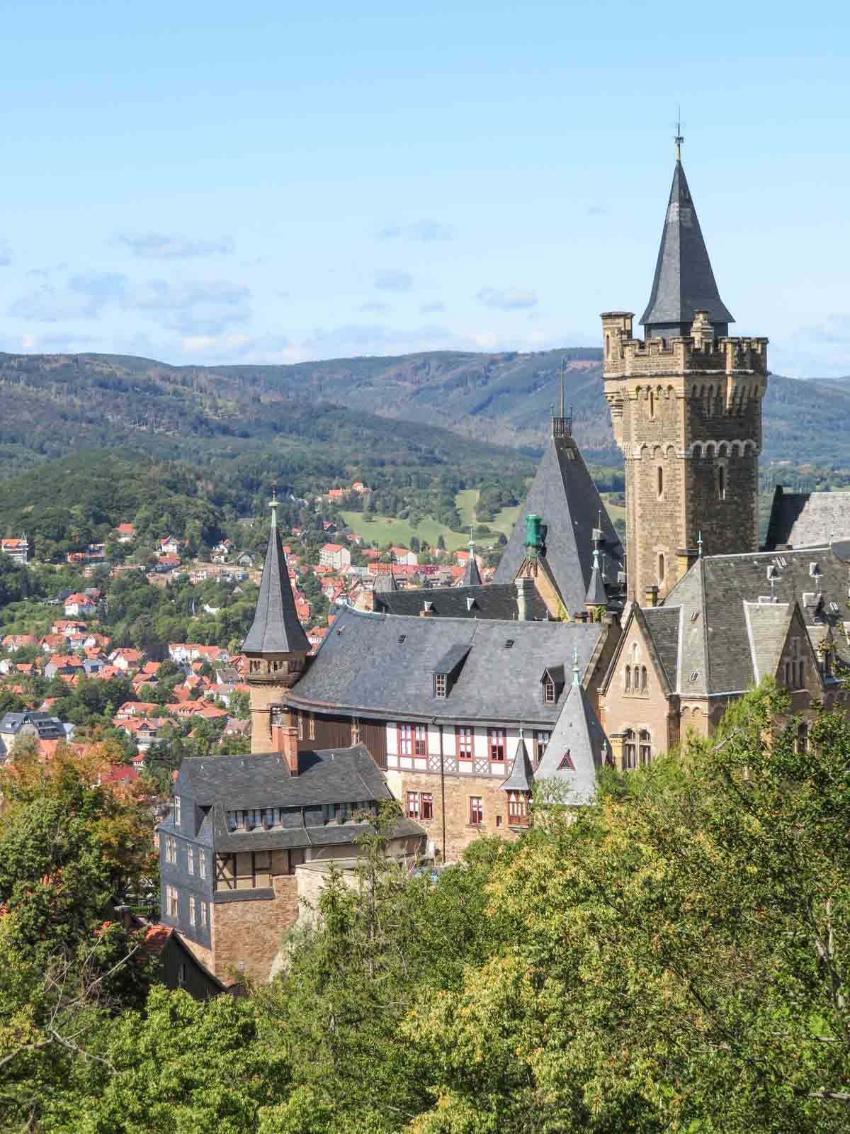 4x de mooiste steden in de Harz, kasteel Wernigerode - Map of Joy