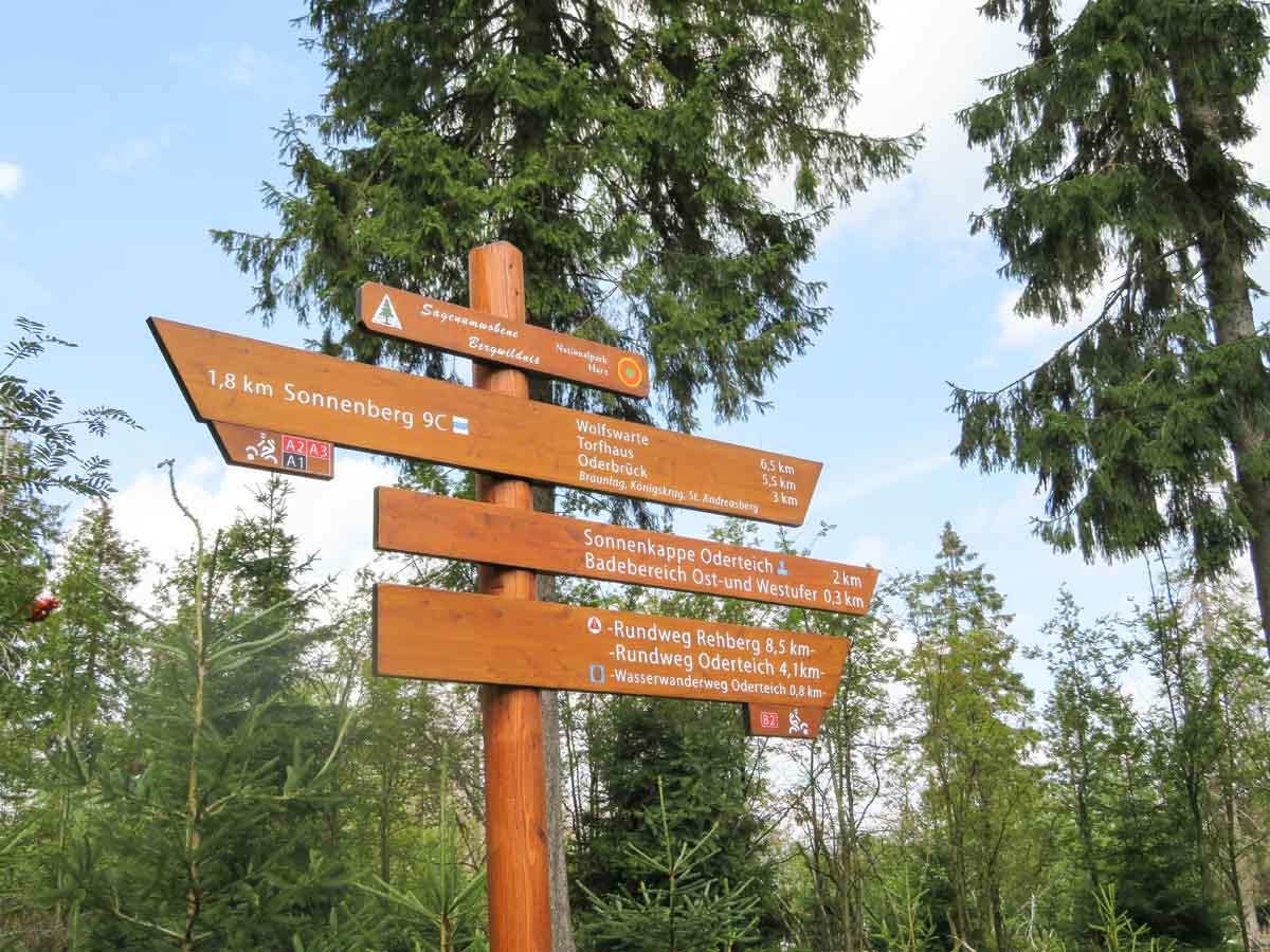 Bijzondere, korte wandeling in de Harz bij Oderteich - Map of Joy