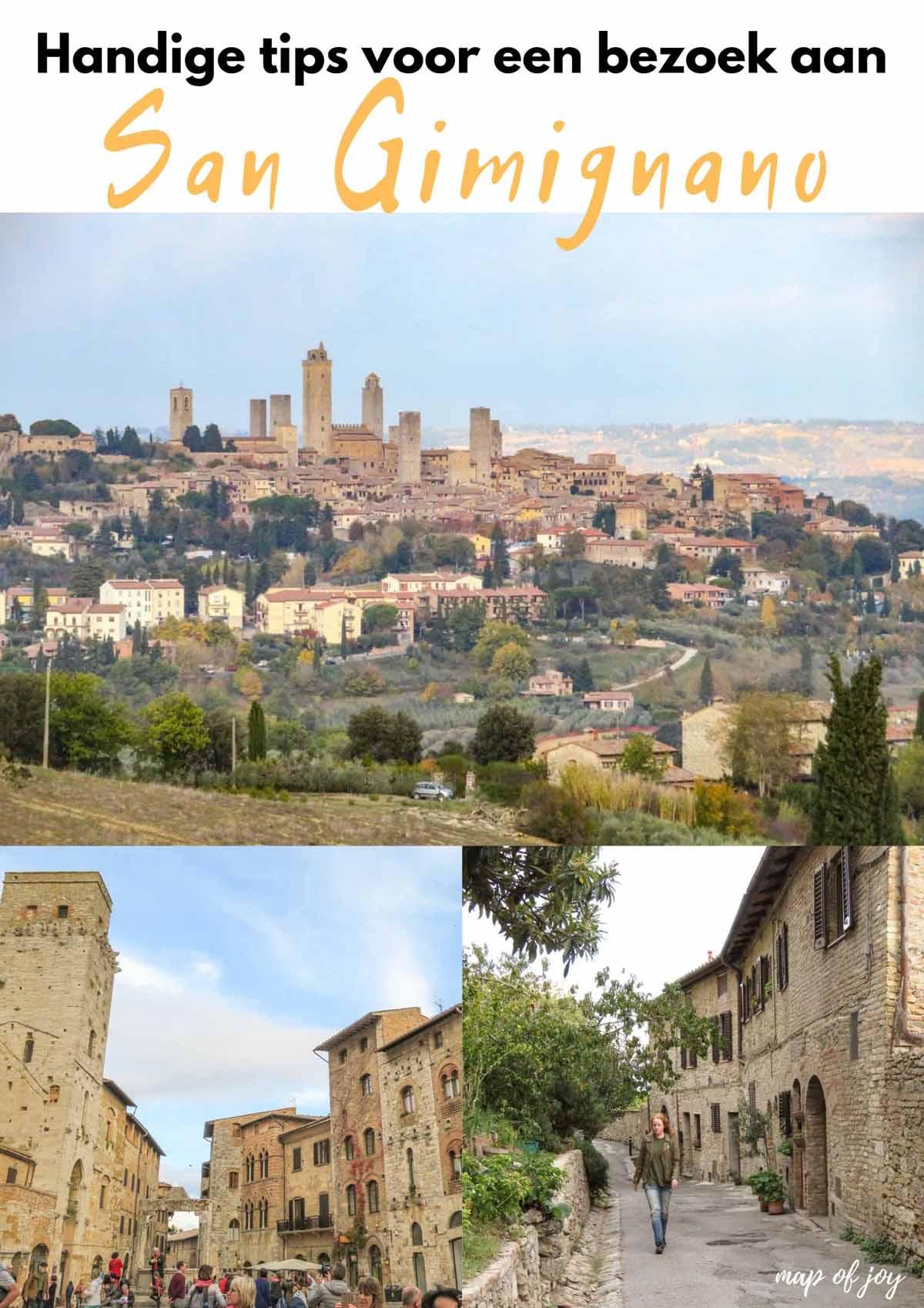Handige tips voor een bezoek aan San Gimignano - Map of Joy