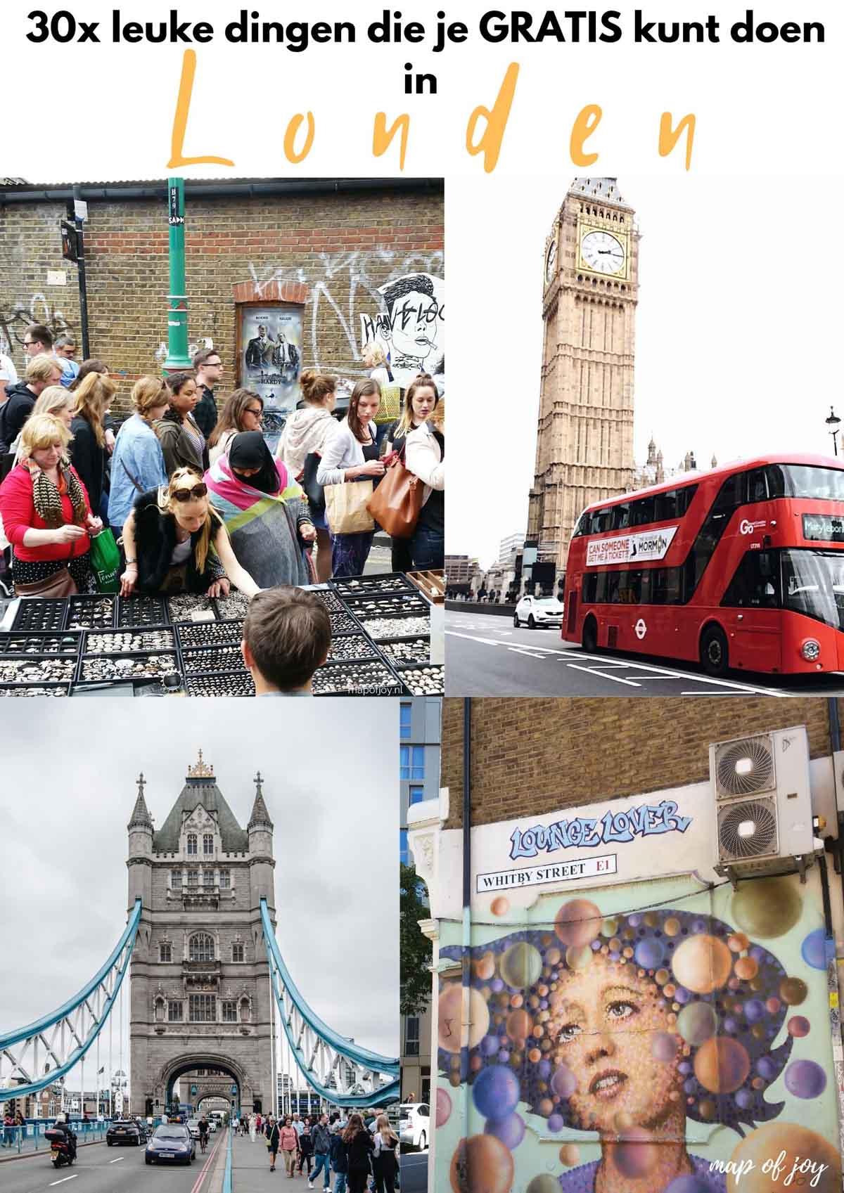 30x leuke dingen die je gratis kunt doen in Londen [originele tips!] - Map of Joy