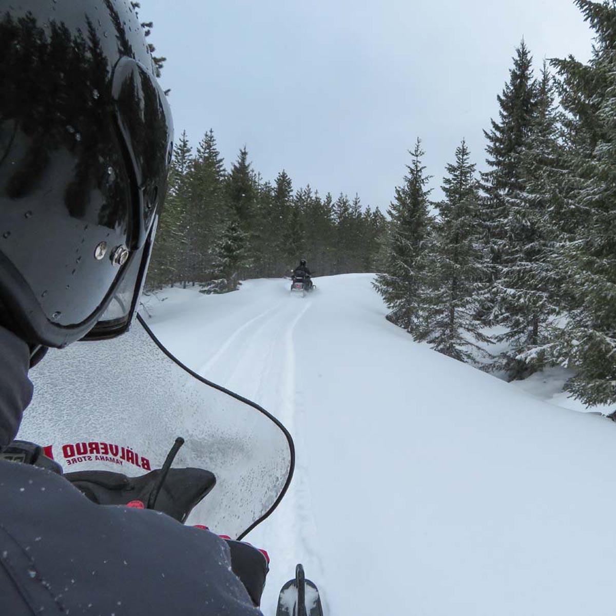 sneeuwscooteren in Värmland