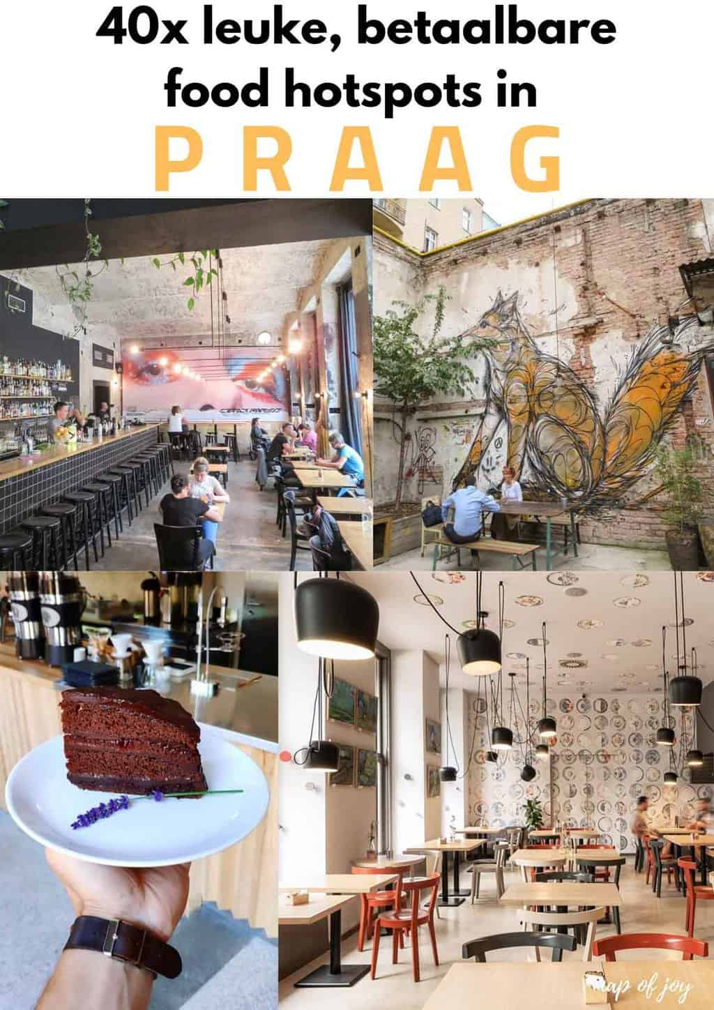 40x leuke, betaalbare food hotspots in Praag - Map of Joy
