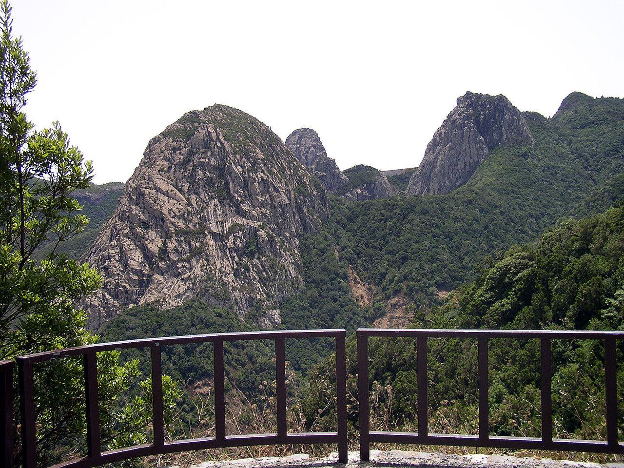 Het landschap in de bergen van La Gomera