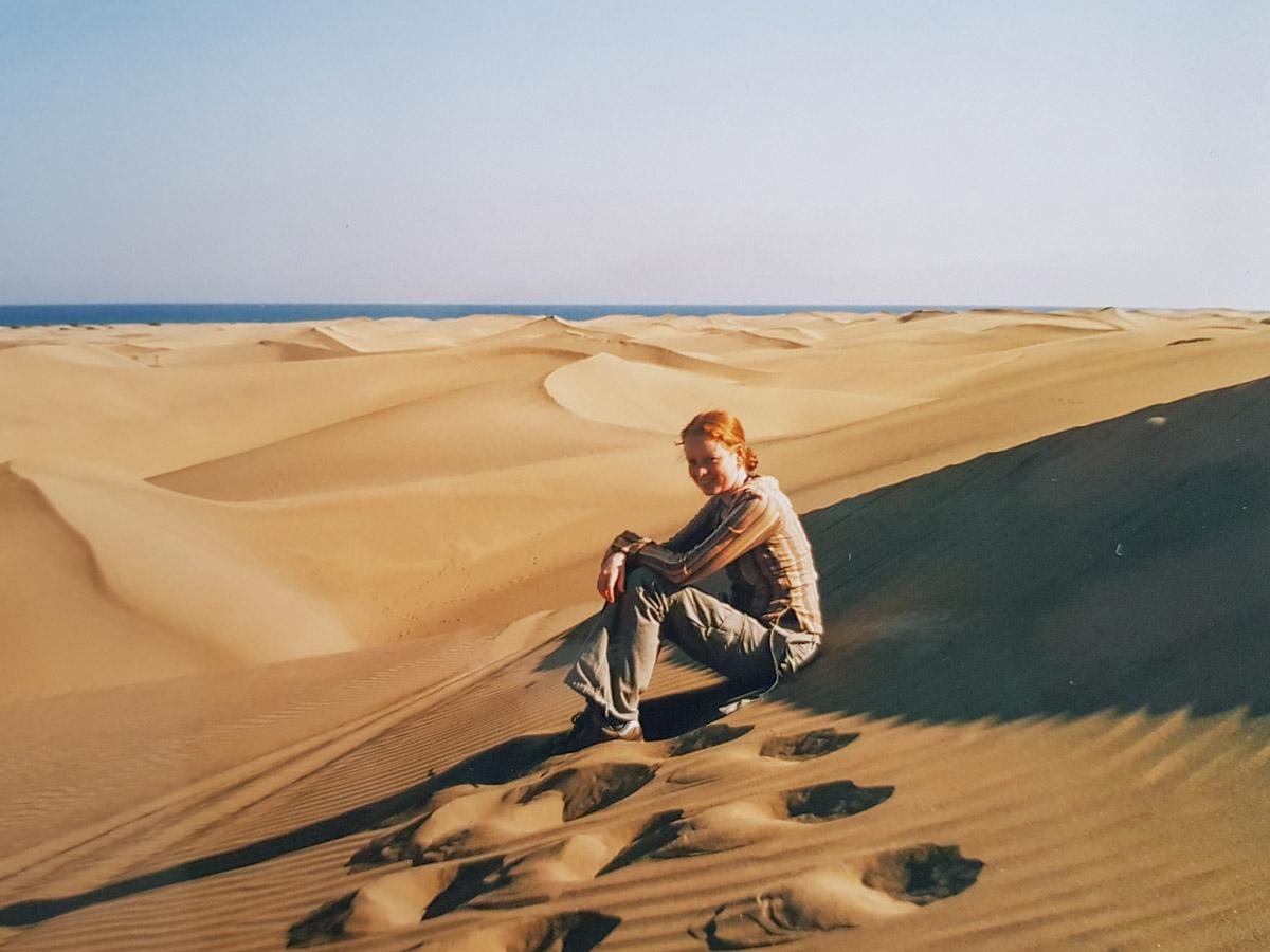 De duinen van Maspalomas opGran Canaria