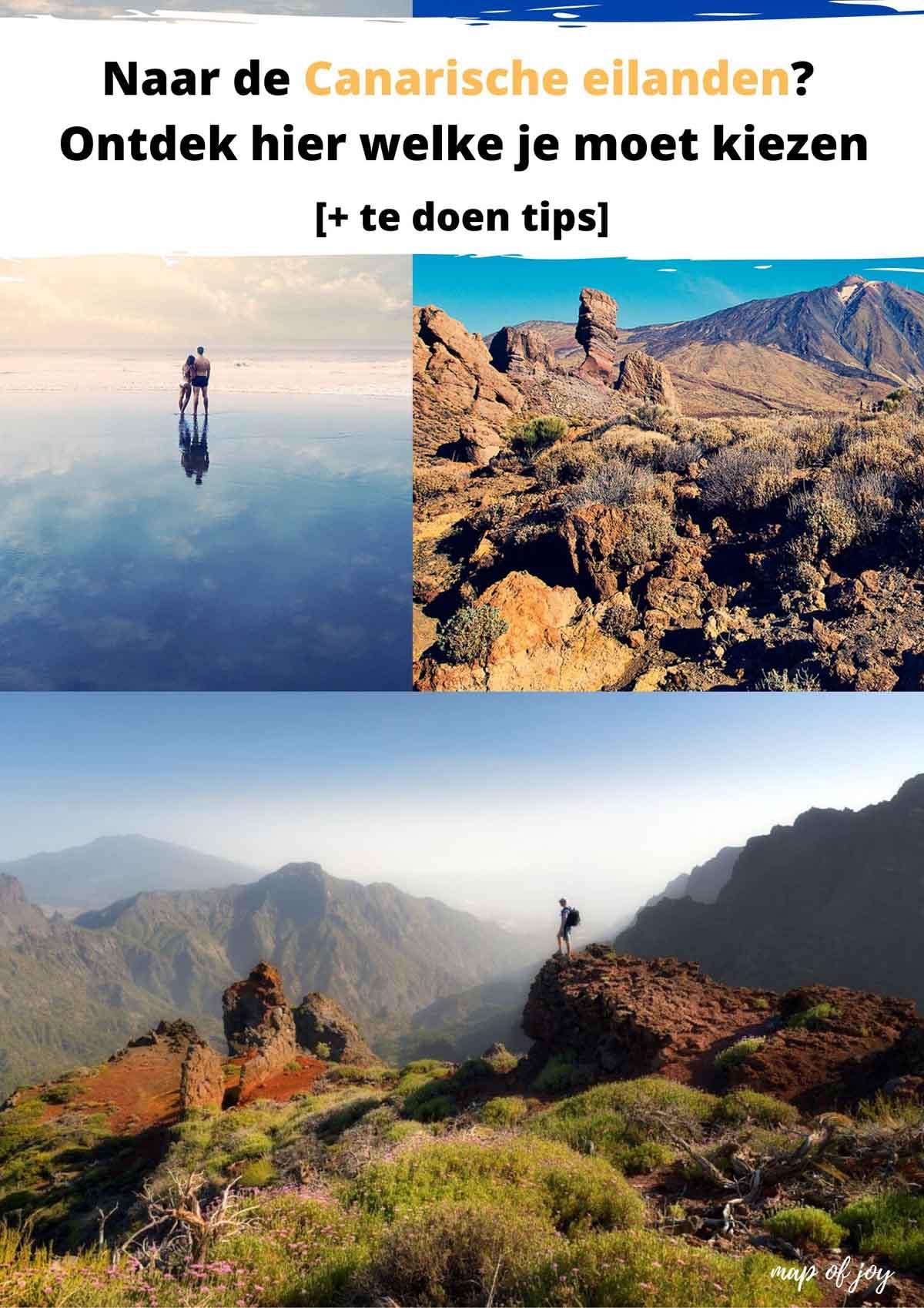 Welk eiland van de Canarische eilanden moet je kiezen [+ te doen tips] - Map of Joy
