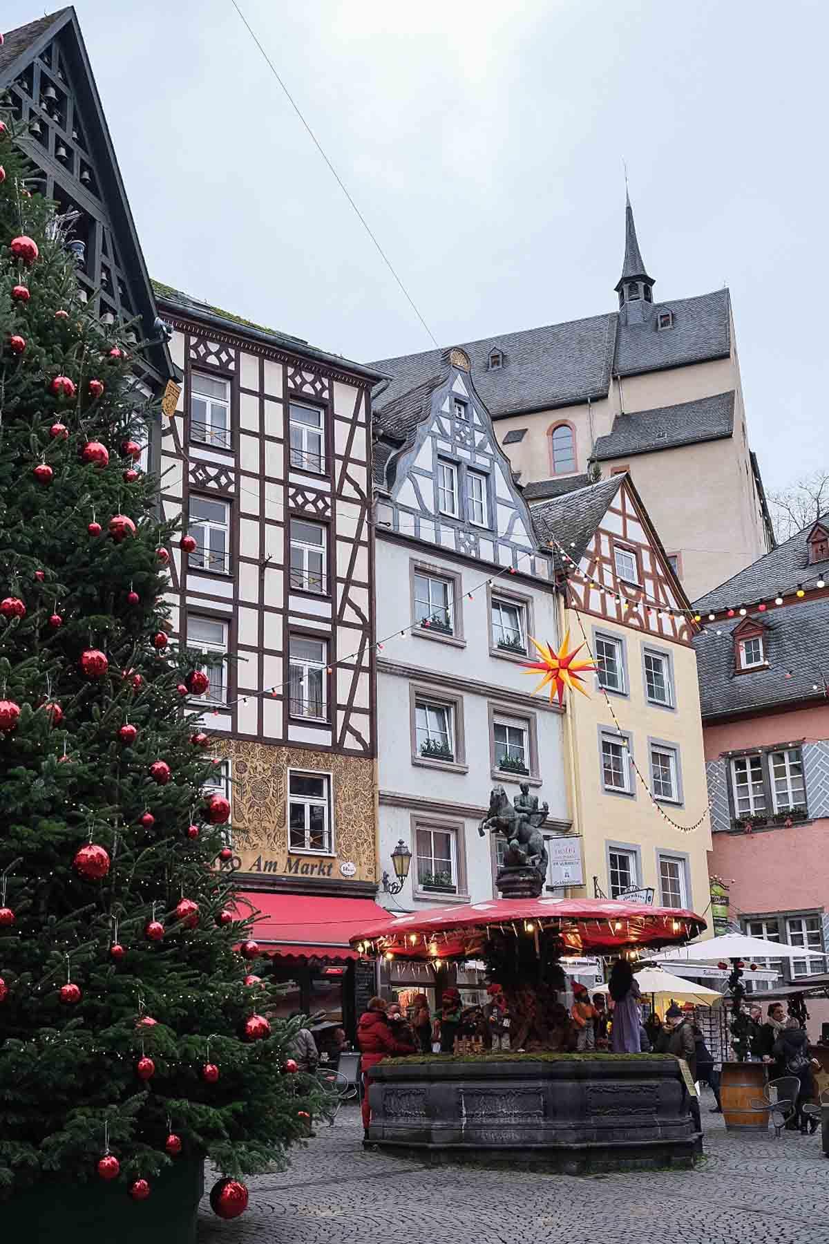 kerstmarkt Cochem, Eifel, Duitsland