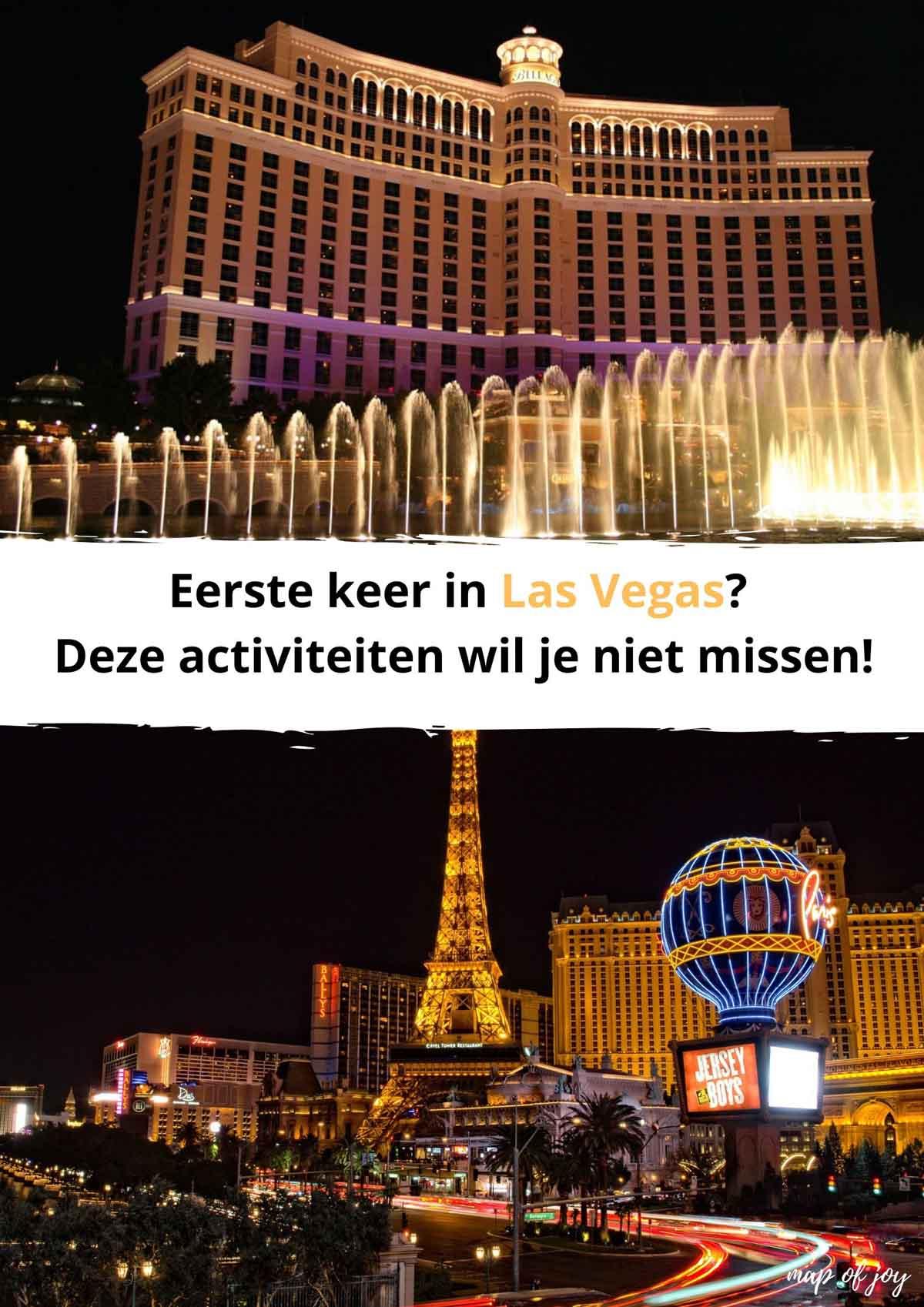 Eerste keer Las Vegas? Deze leuke te doen dingen wil je niet missen!