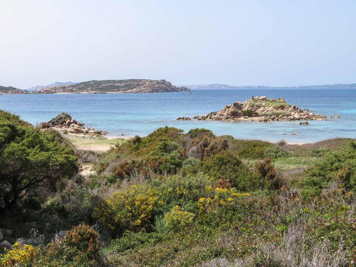 mooi strand Noord-Sardinië Spiaggia di Bassa Trinita