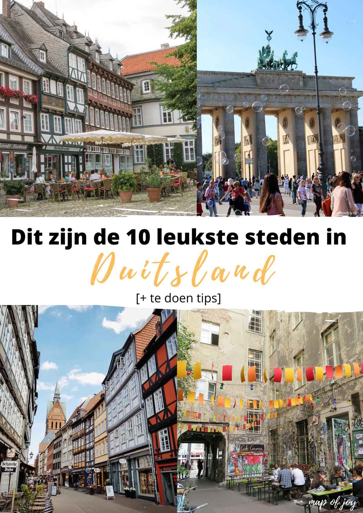 Dit zijn de 10 leukste steden in Duitsland [+ te doen tips] - Map of Joy