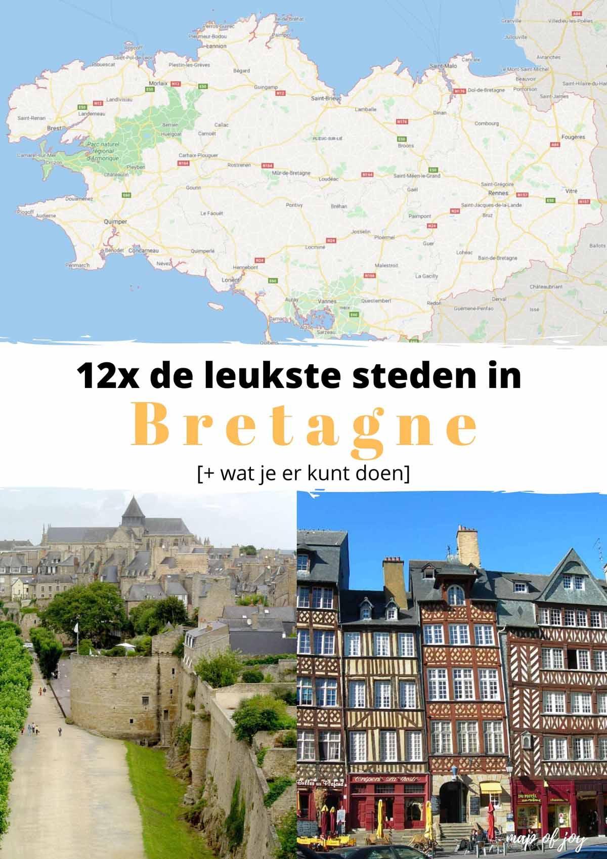 12x de leukste steden in Bretagne [+ wat je er kunt doen] - Map of Joy