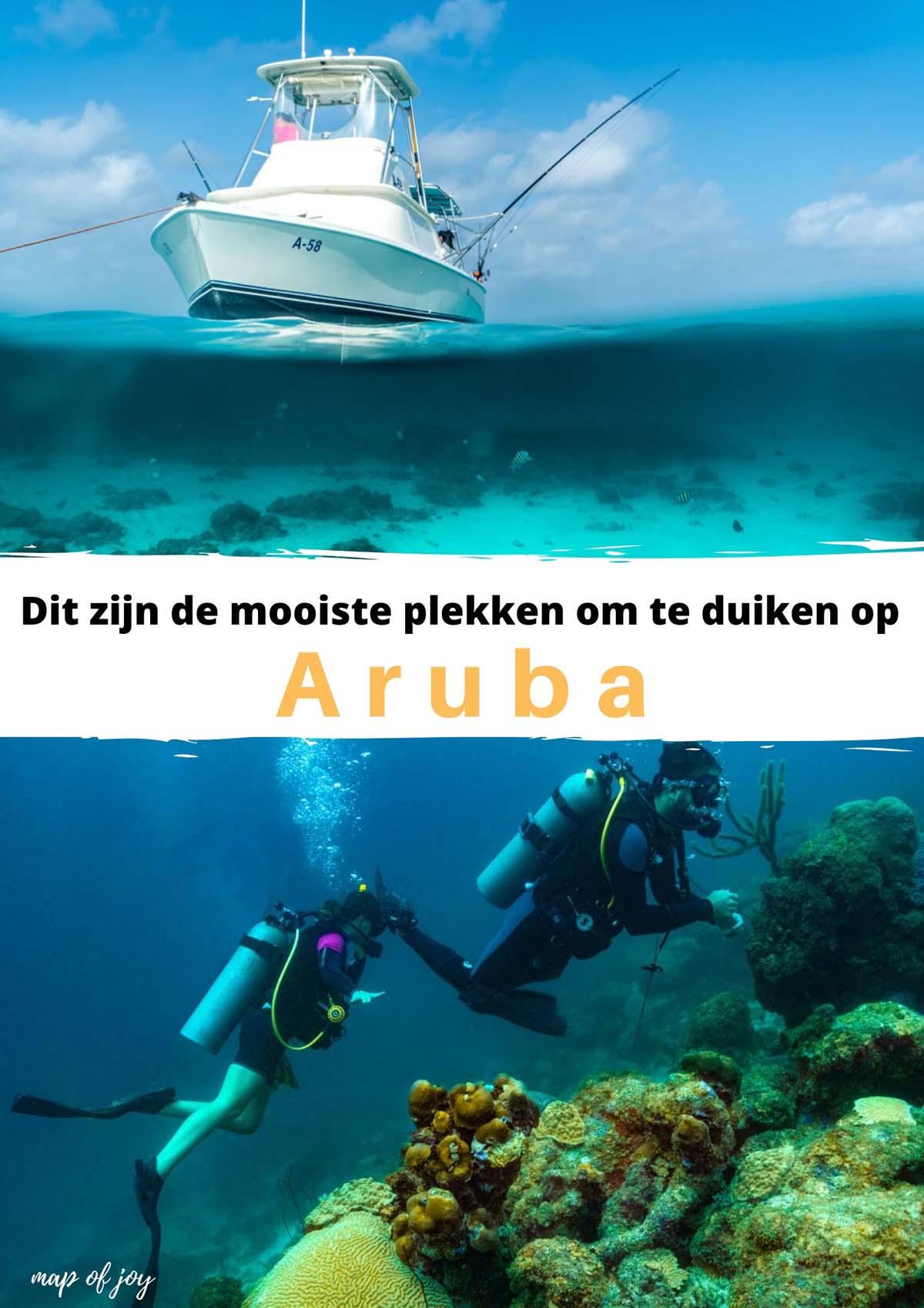 Dit zijn de mooiste plekken om te duiken op Aruba - Map of Joy