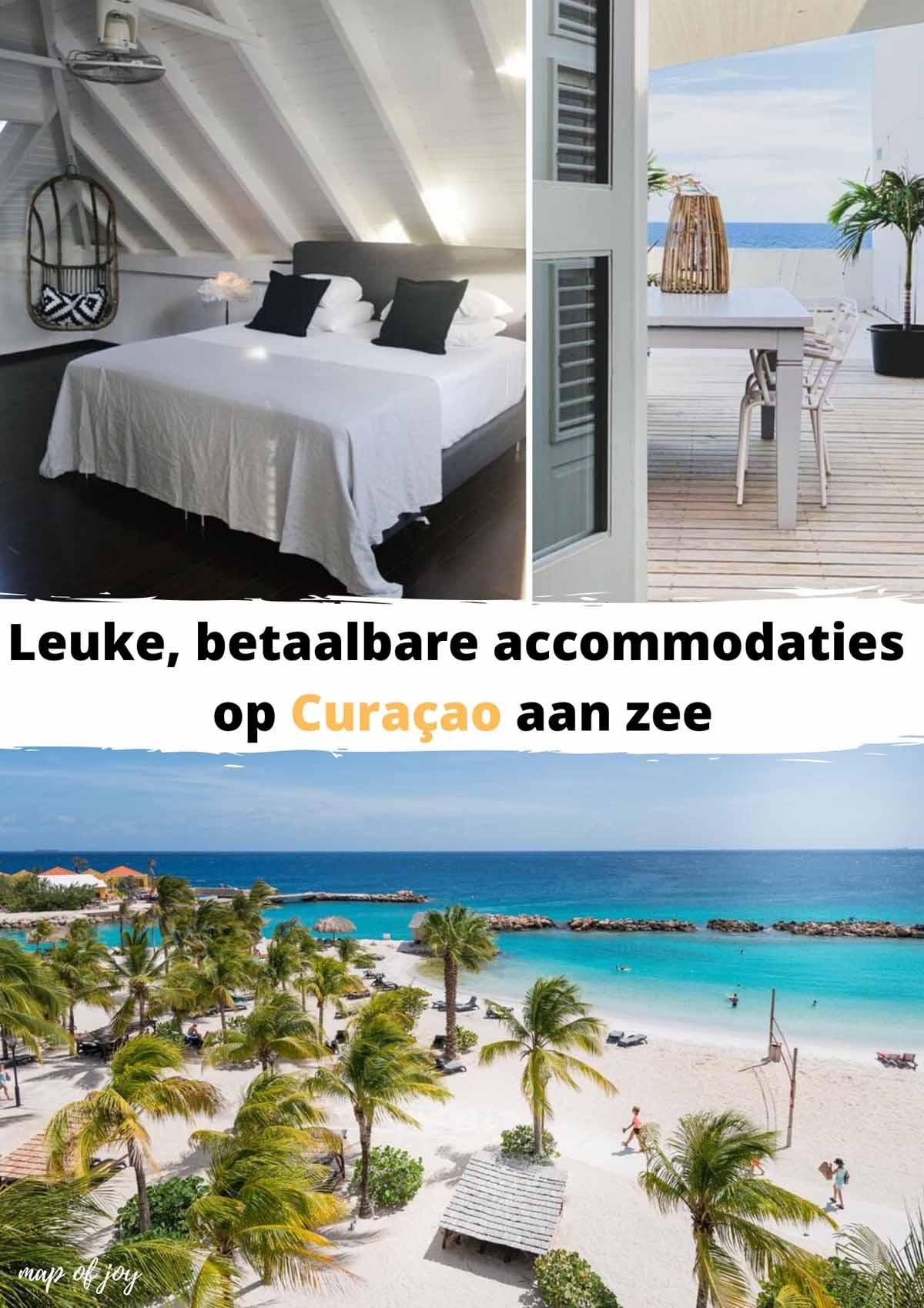 Leuke, betaalbare accommodaties op Curaçao aan zee - Map of Joy