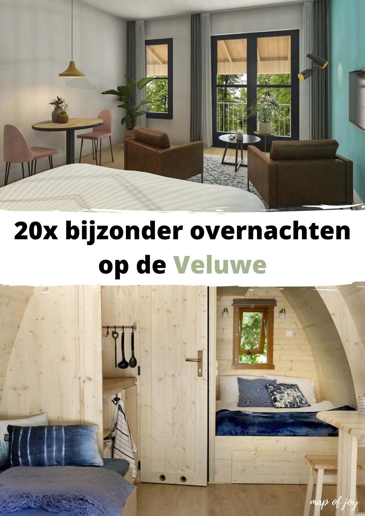 20x bijzonder overnachten op de Veluwe