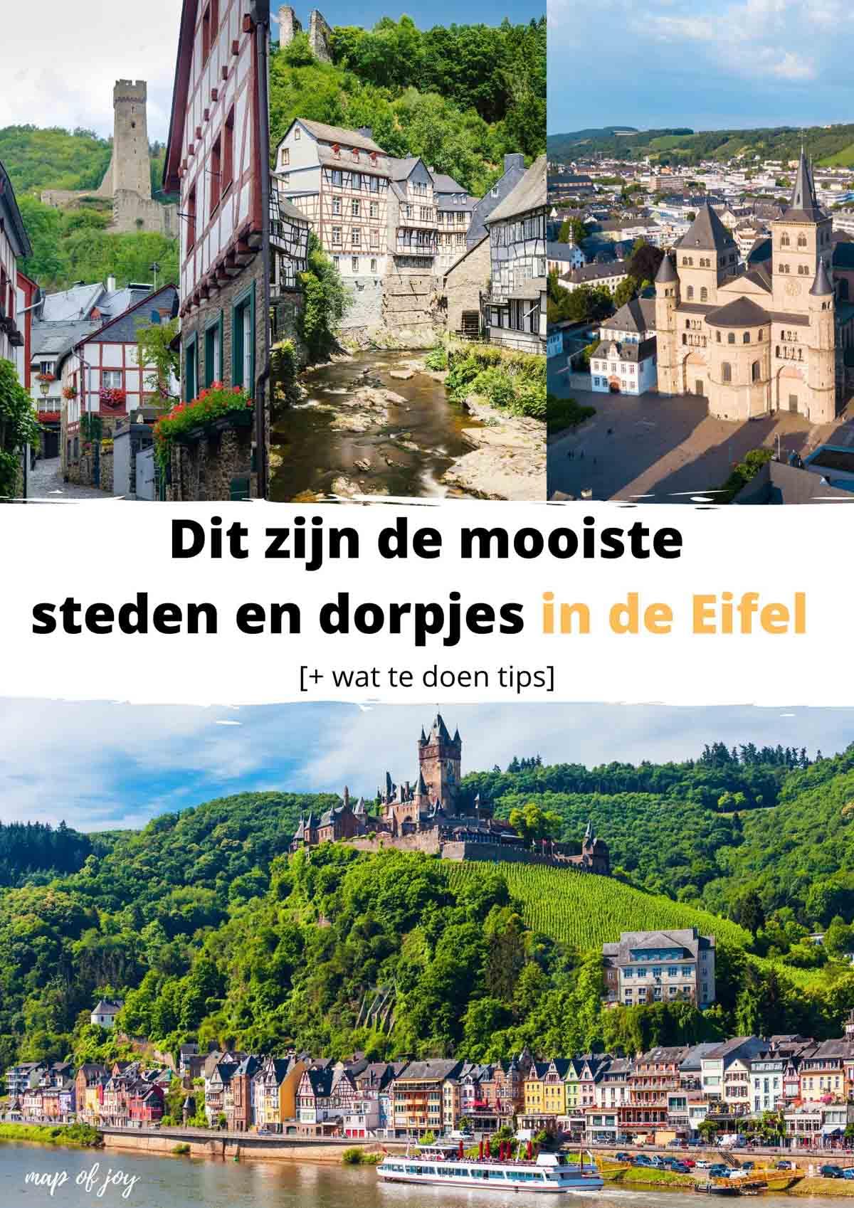 mooiste steden en dorpjes in de Eifel